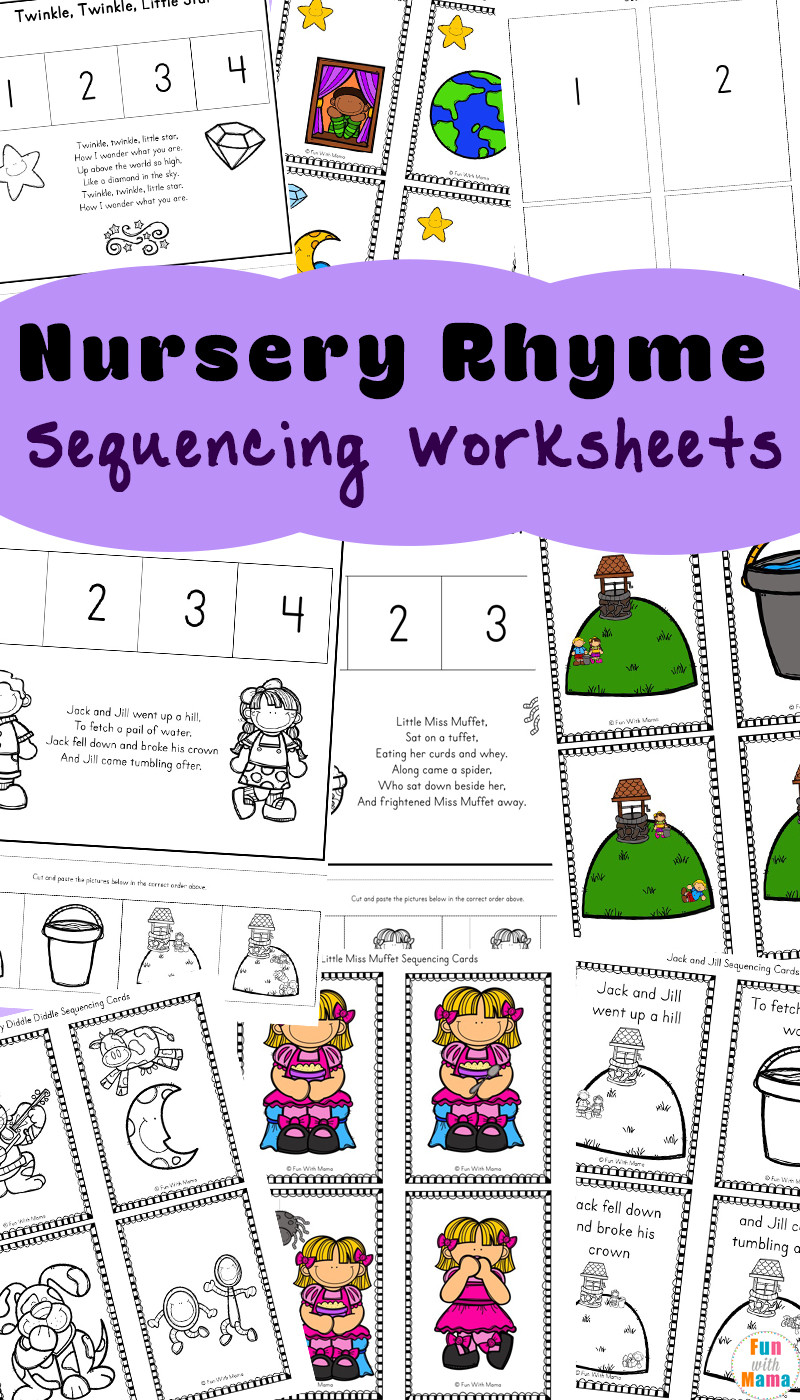 Printable Sequencing Worksheets Free Nursery Rhymes Sequencing Activities Fun with Mama
