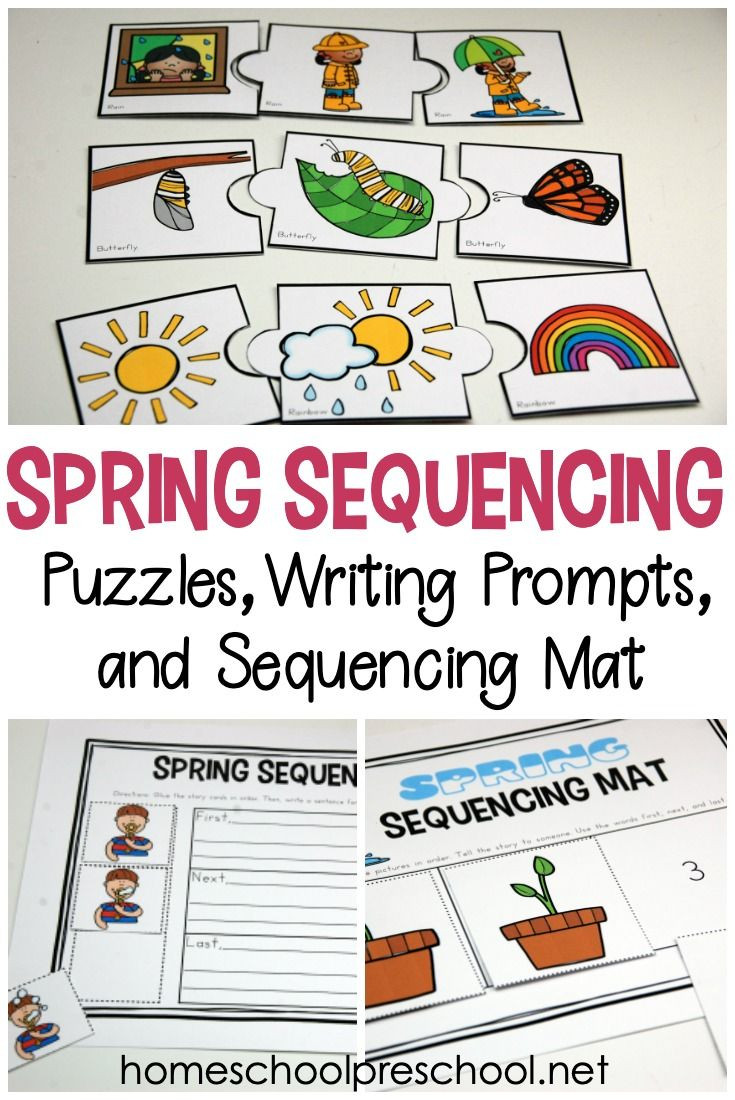 Printable Sequencing Worksheets Free Printable Spring Sequence Cards for Preschoolers