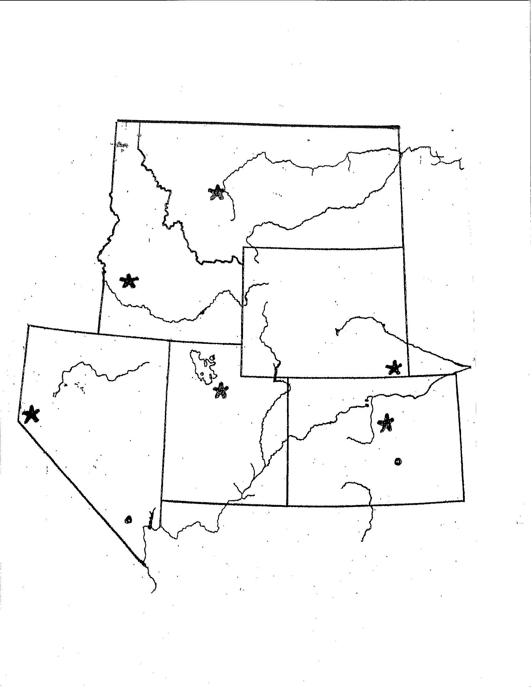 Printable States and Capitals Quiz States
