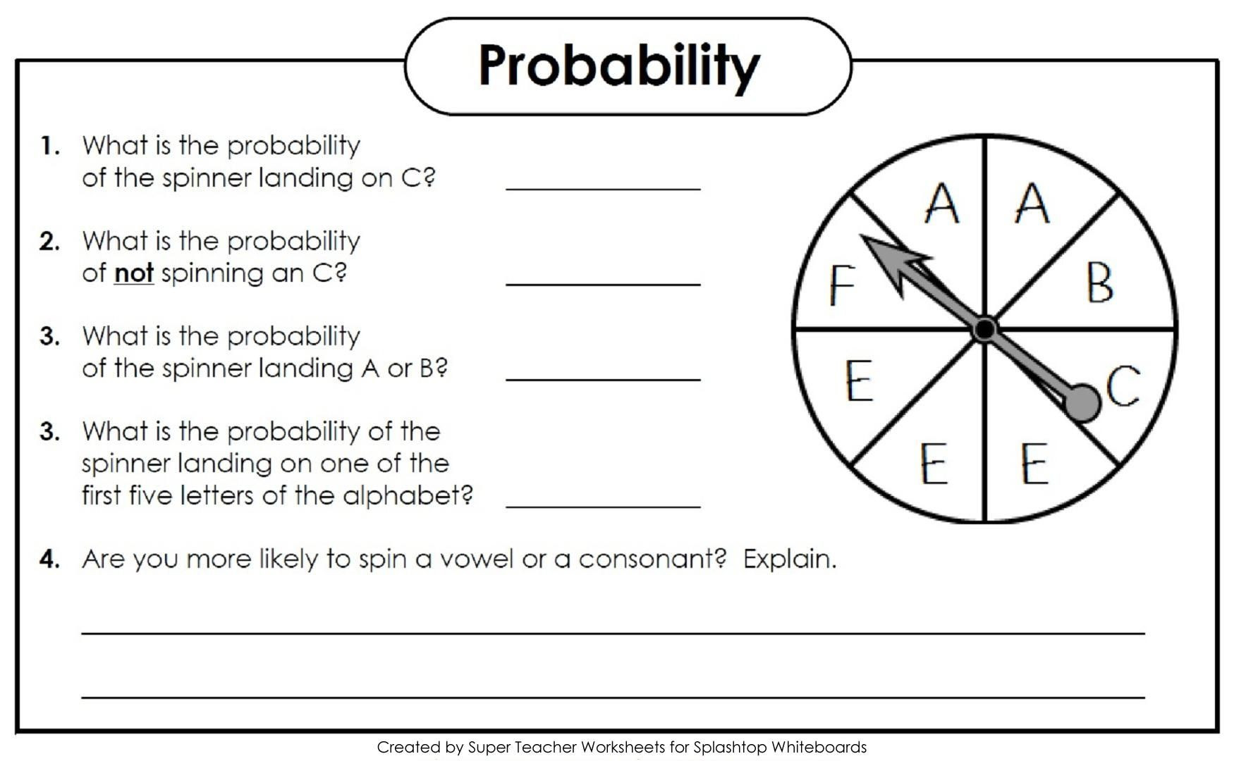 Probability Worksheet 4th Grade 15 High School Geometrie Arbeitsblätter Pdf