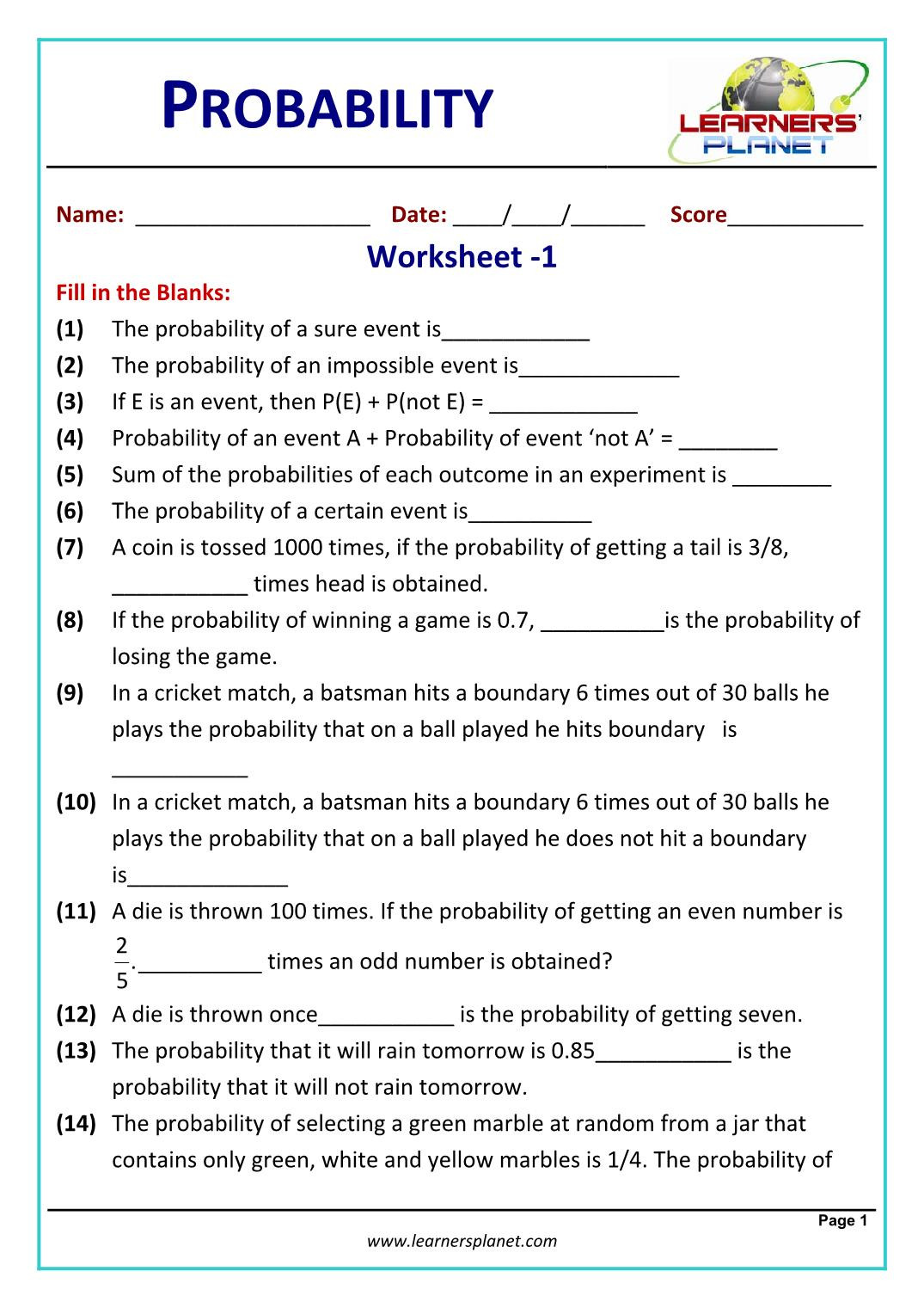 Probability Worksheet 4th Grade Rounding Decimals Green Eggs and Ham Worksheets Probability