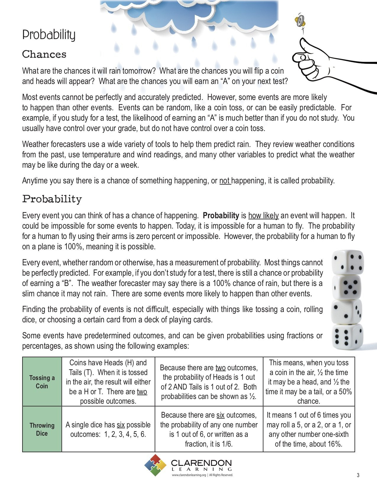 Probability Worksheet 5th Grade Probability