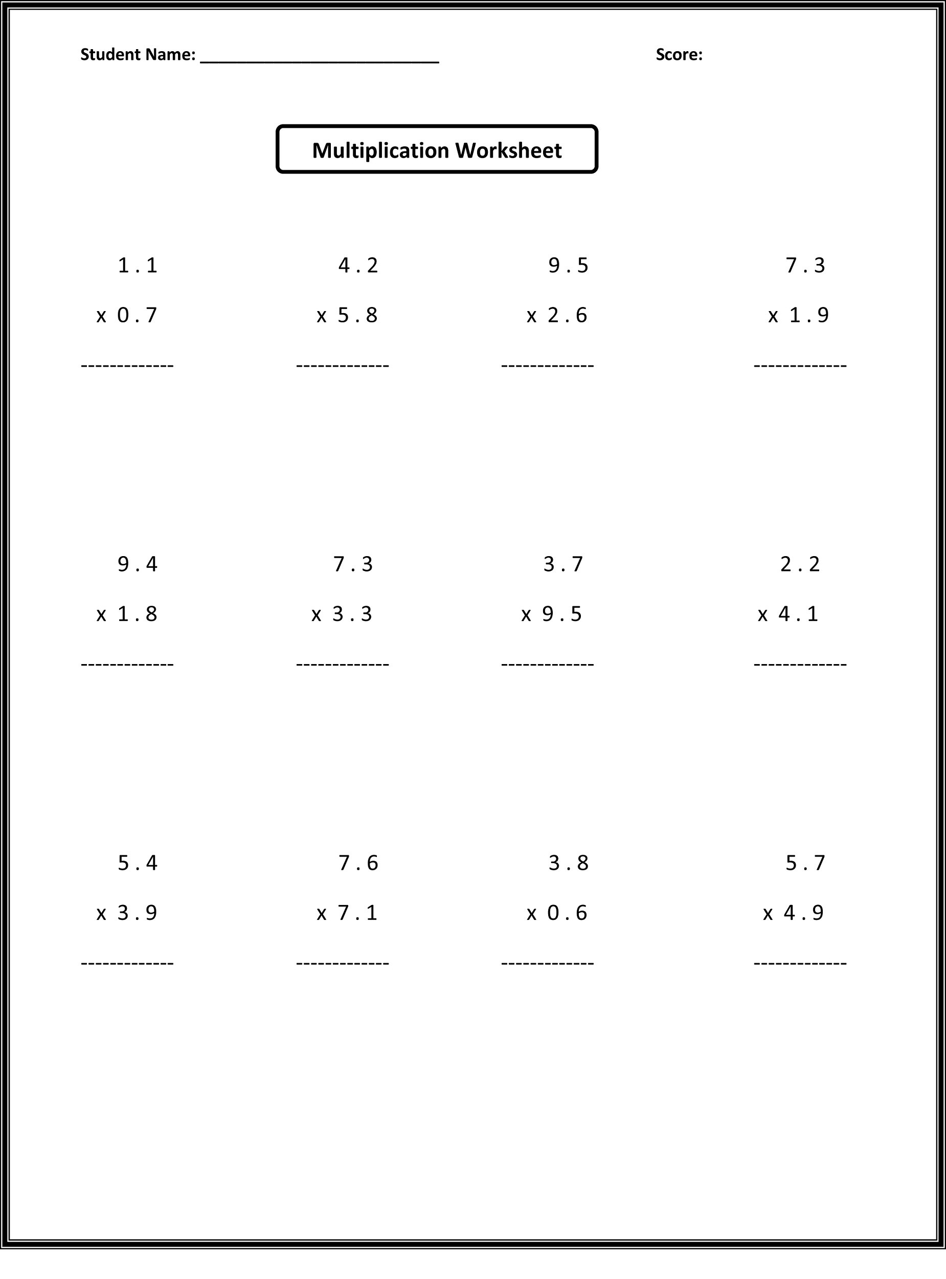 Probability Worksheet 6th Grade 6th Grade Math Worksheets Activity Shelter Free Decimals