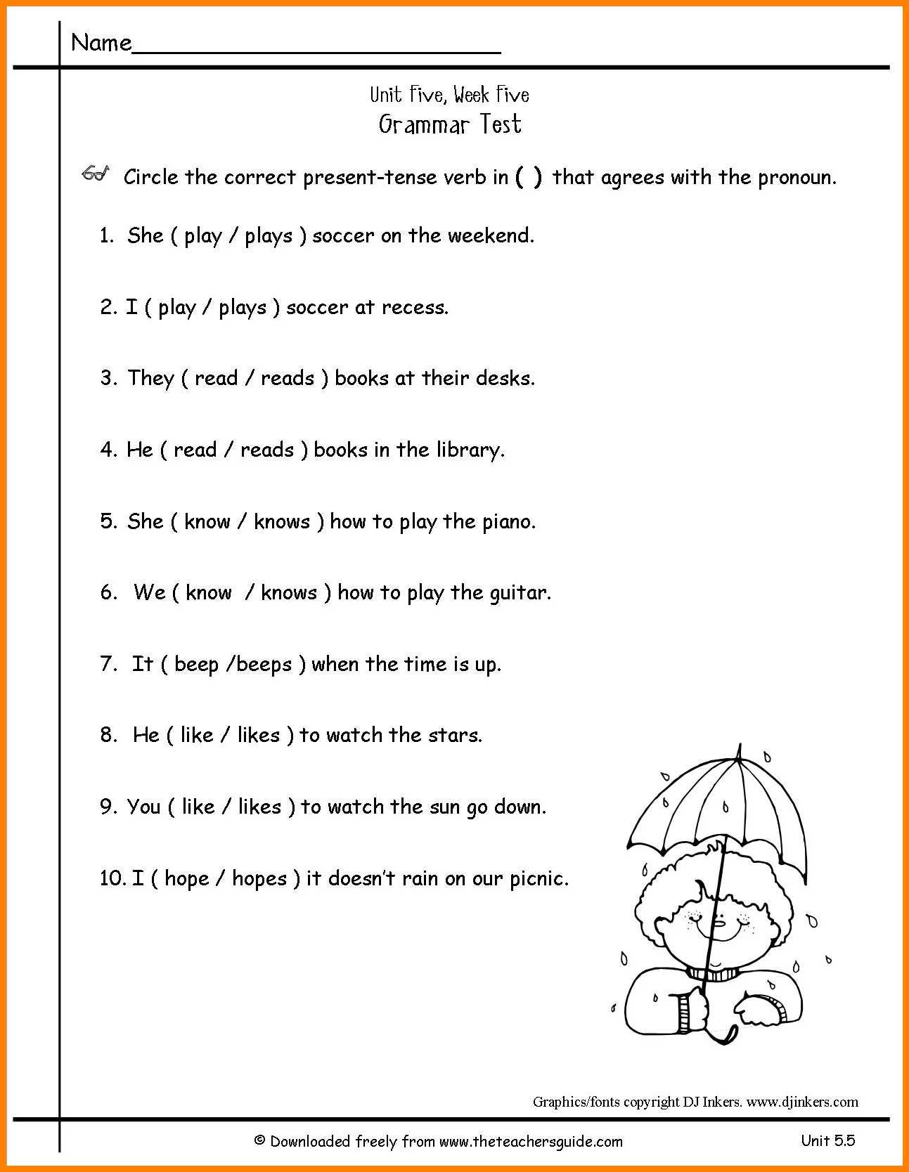 Pronoun Worksheets 5th Grade Fourth Grade Pronouns Worksheet