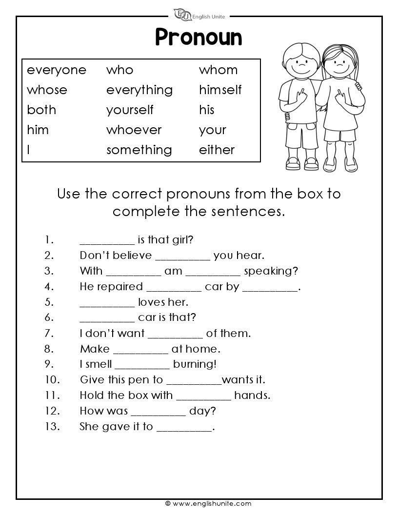 Pronouns Worksheet 2nd Grade Pronouns Worksheet 3