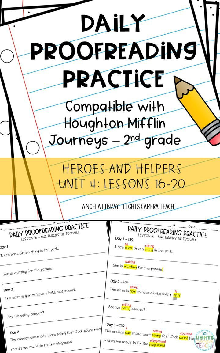 Proofreading Practice Middle School Daily Proofreading Practice Aligns W Gr 2 Houghton