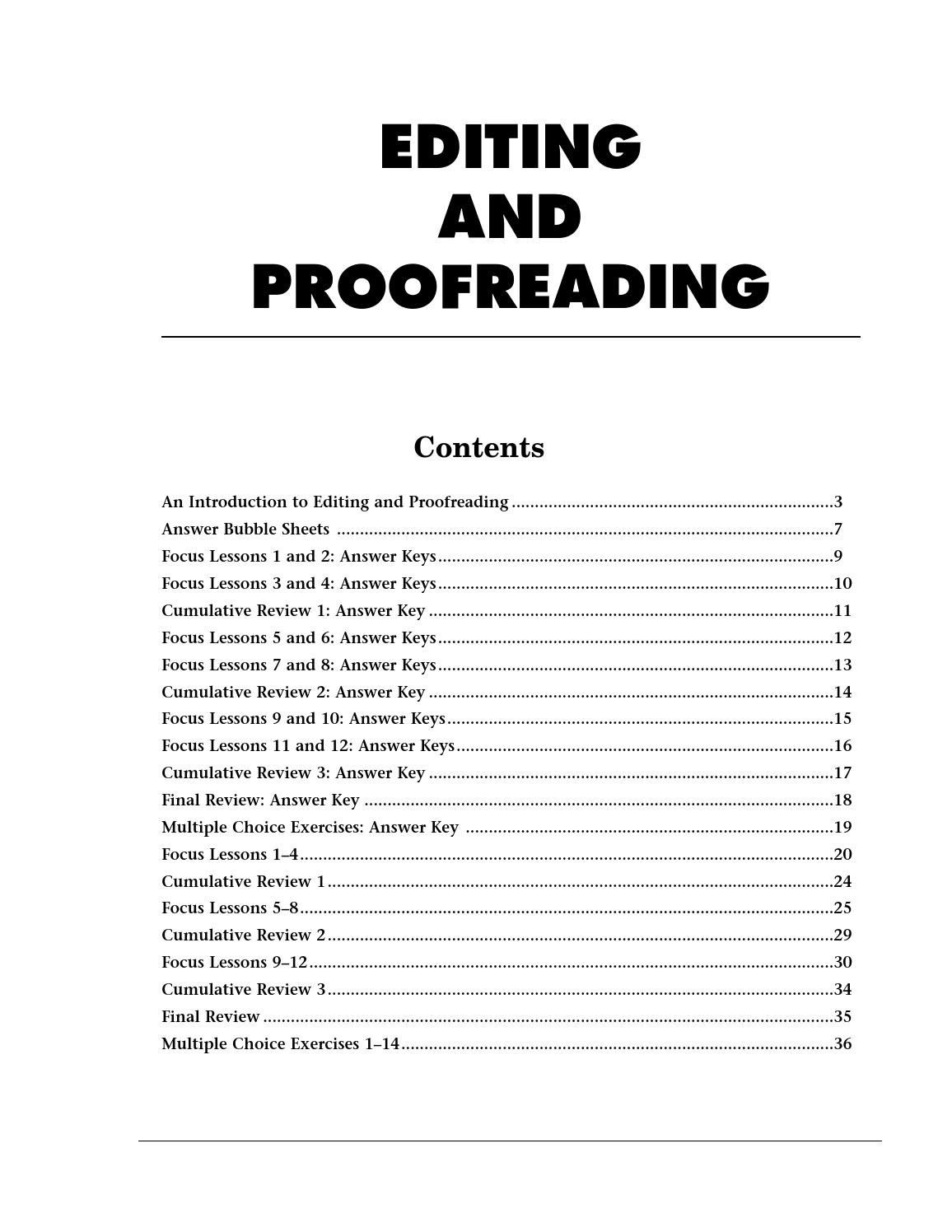 Proofreading Practice Middle School Glencoe Proofreading by Belen Fagundez issuu