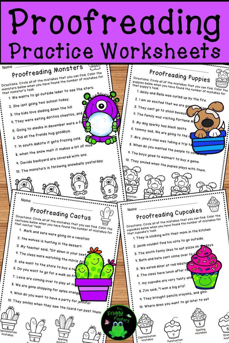 Proofreading Worksheets Editing Practice