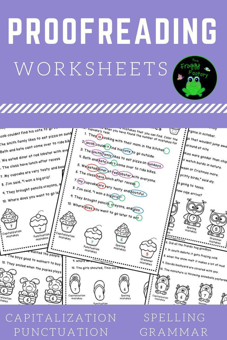 Proofreading Worksheets 3rd Grade Proofreading Worksheets Editing Practice
