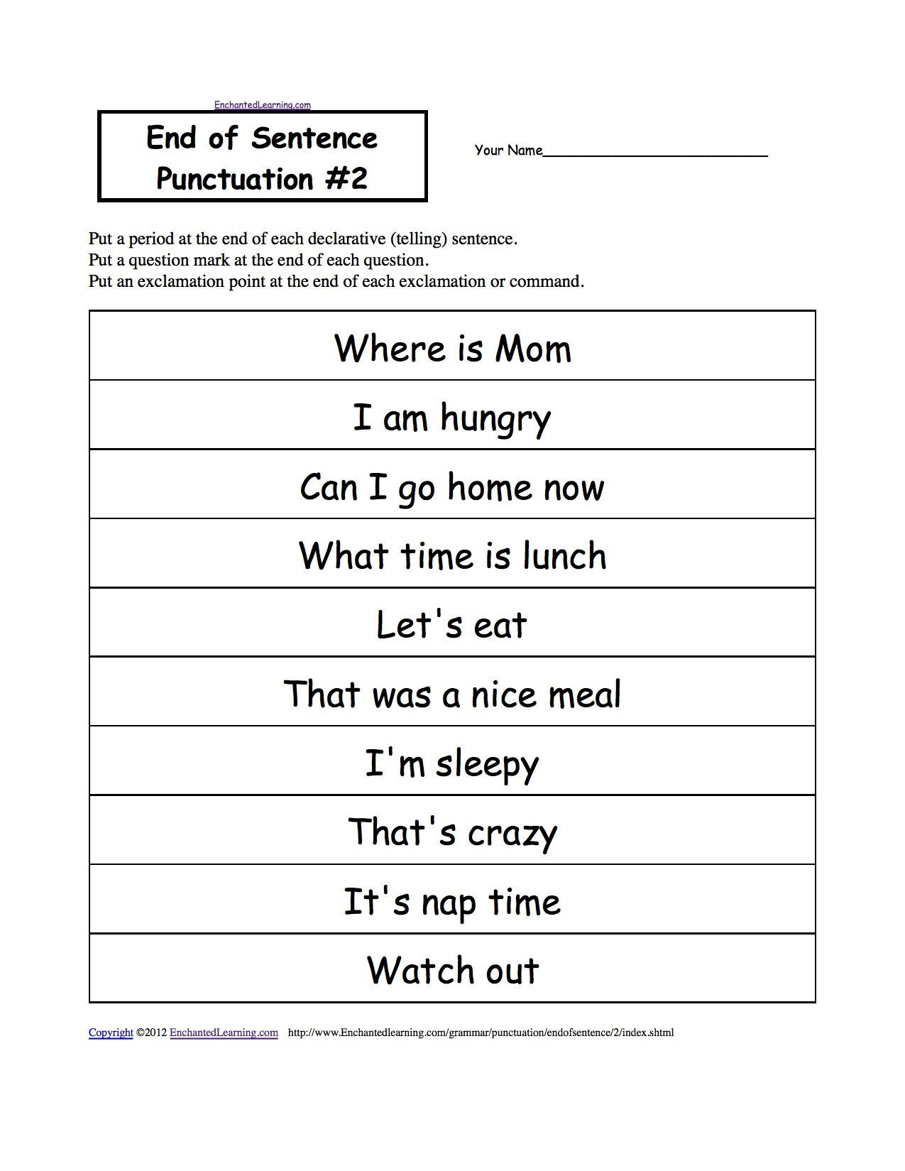 Punctuation Worksheets 5th Grade Punctuation Practice Worksheets 3rd Grade