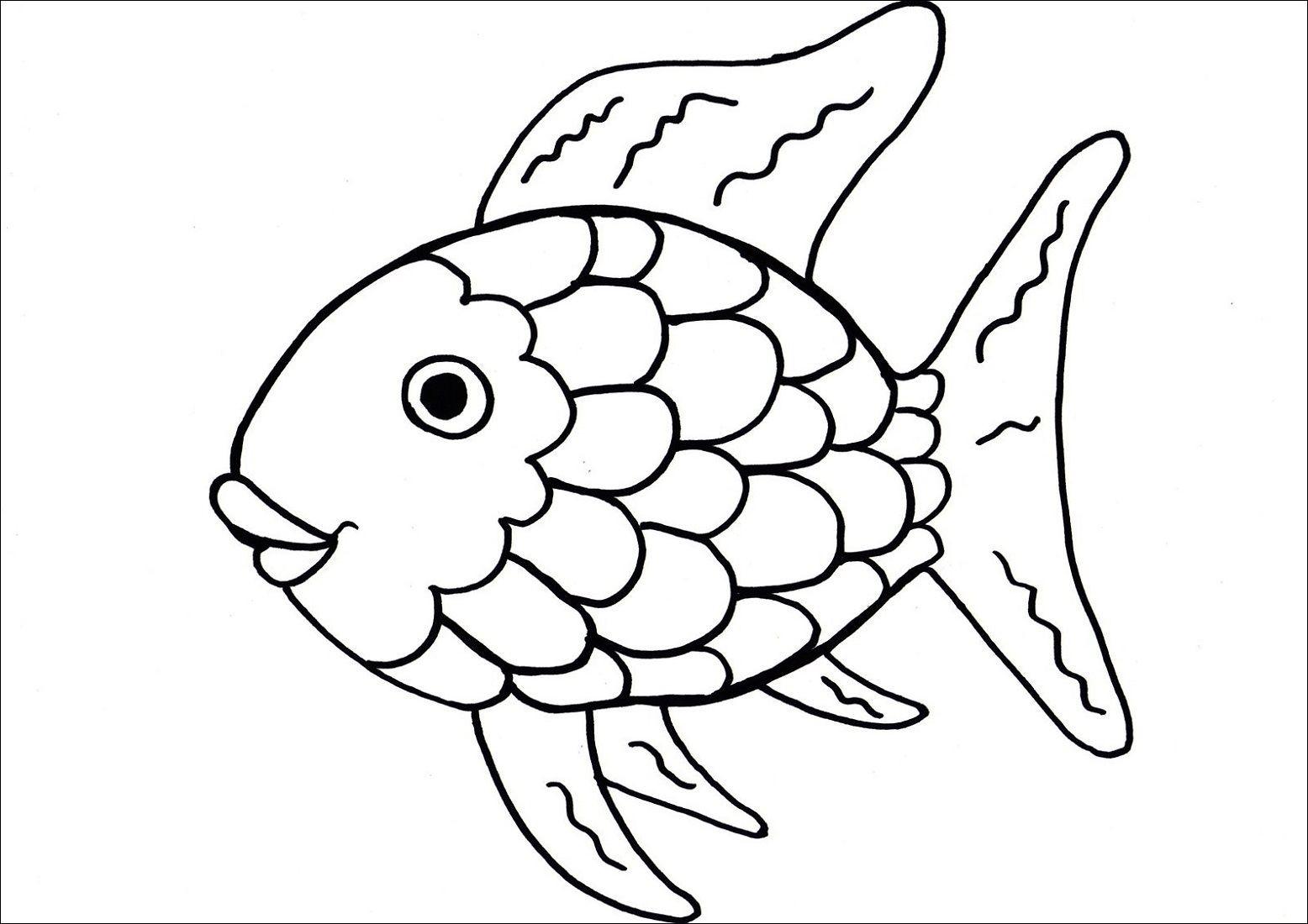 Rainbow Fish Printable Worksheets Printable Coloring Pages for toddlers Fish
