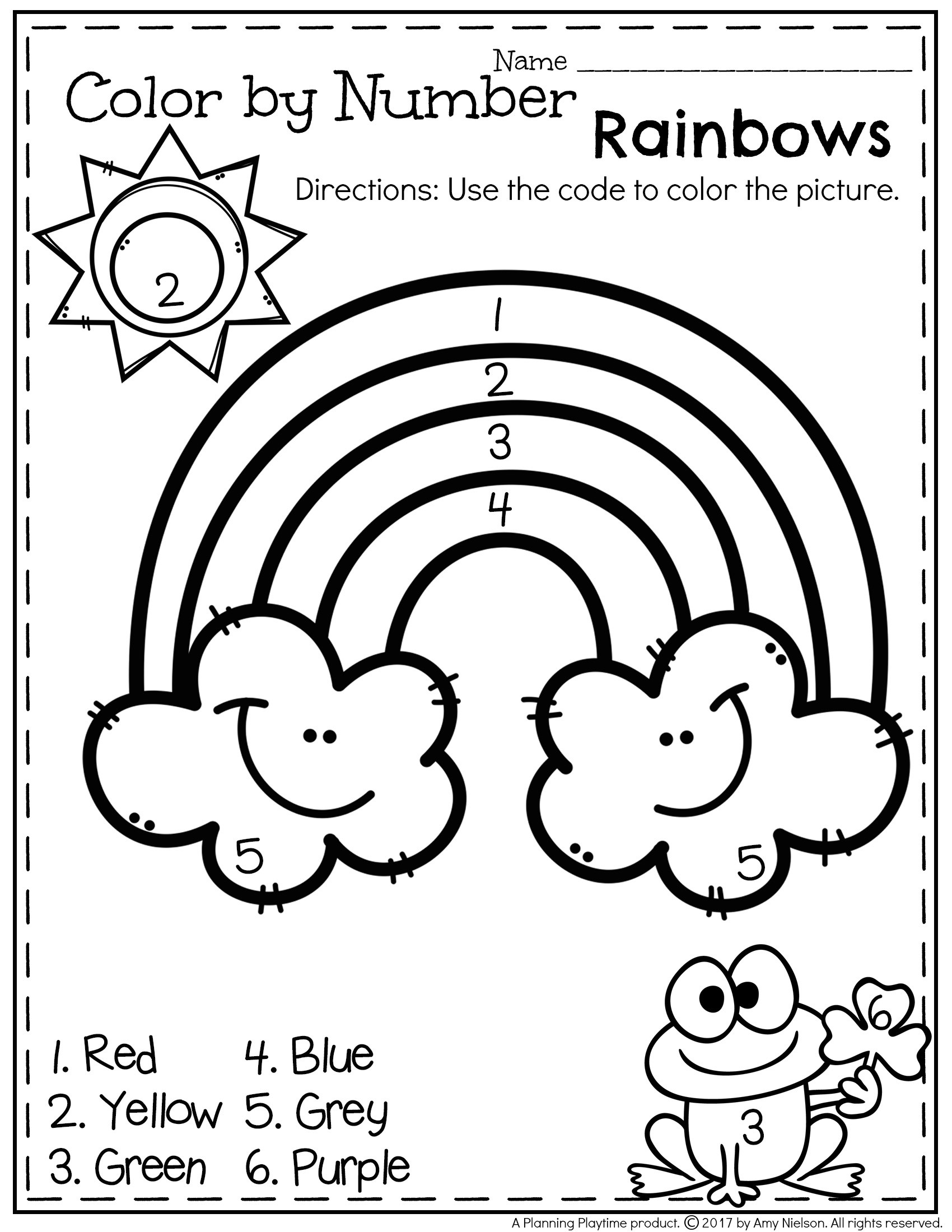 Rainbow Worksheets Preschool March Preschool Worksheets Planning Playtime