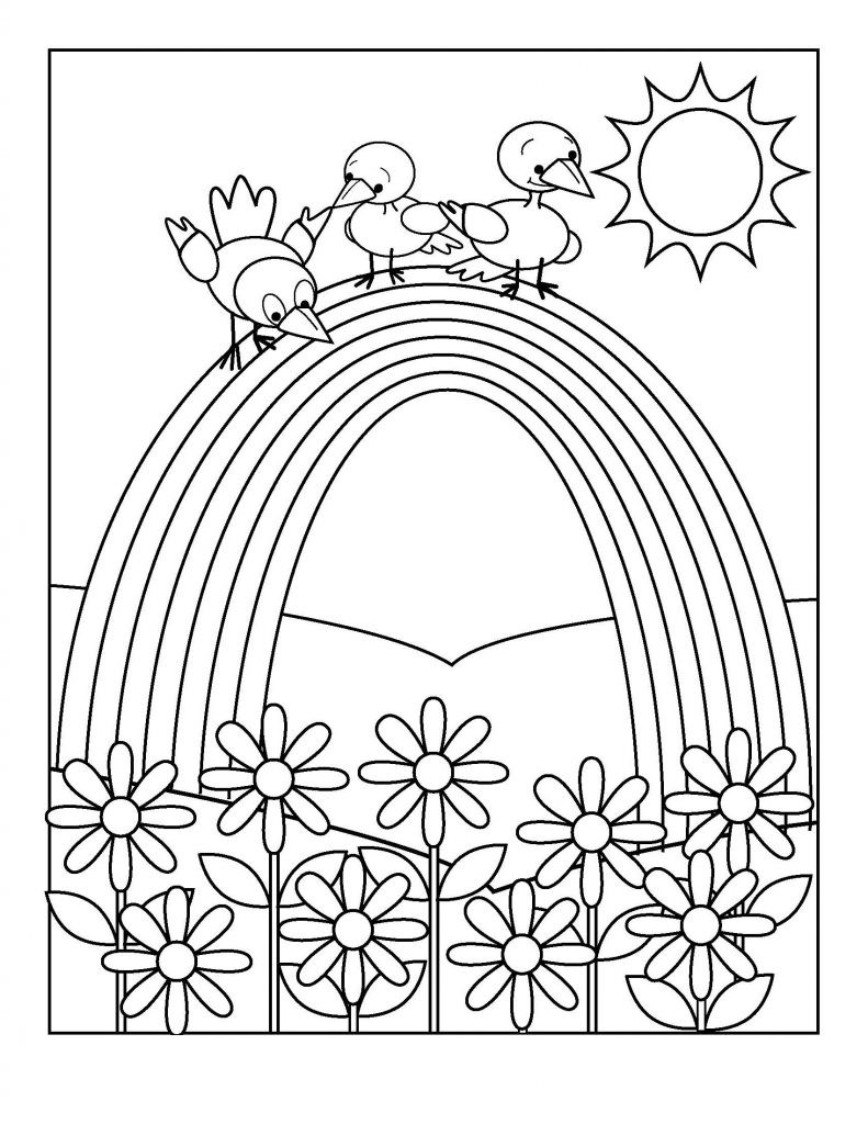 Rainbow Worksheets Preschool Math Worksheet Rainbow Coloringage forreschool 791x1024