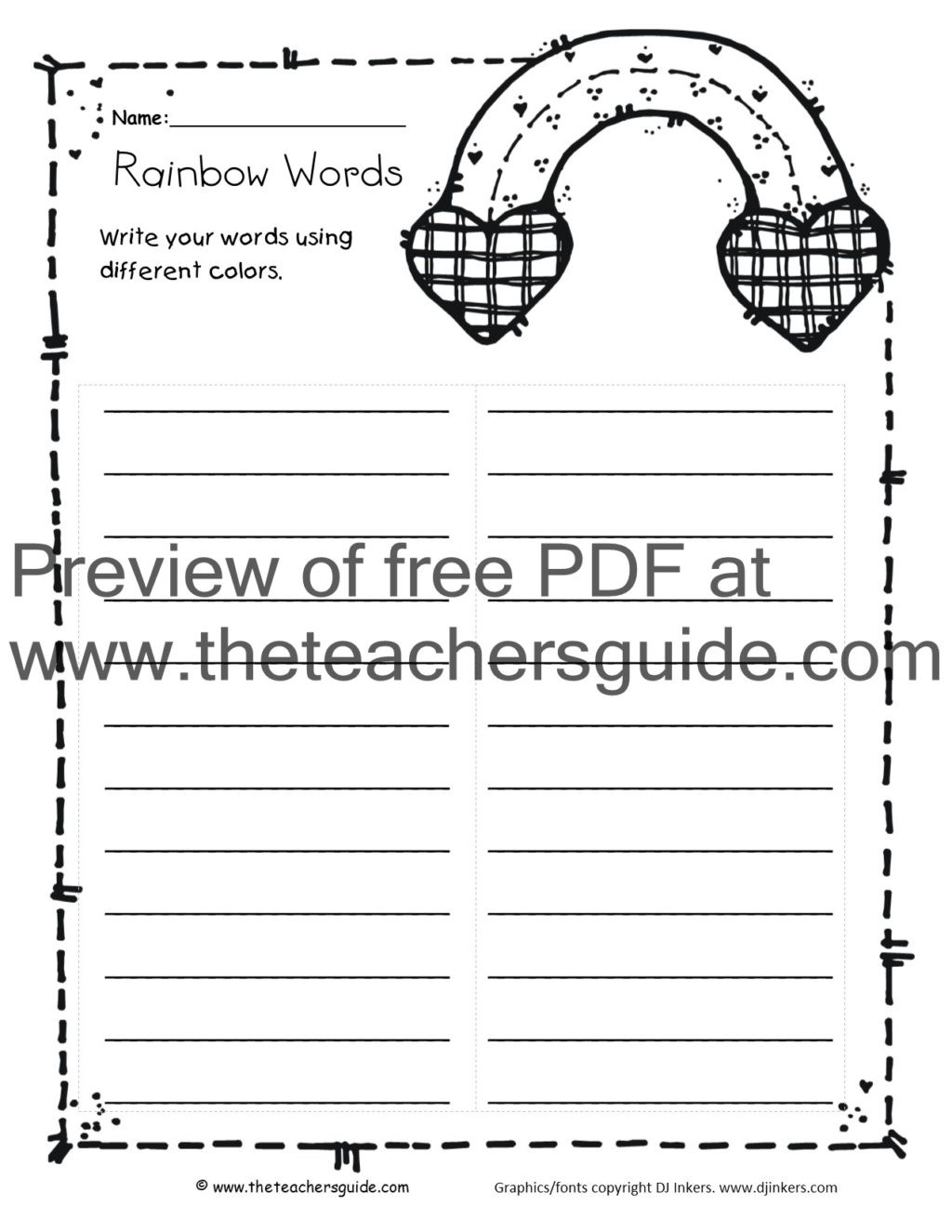 Rainbow Worksheets Preschool Worksheet Fantastic My Classroom Worksheets for