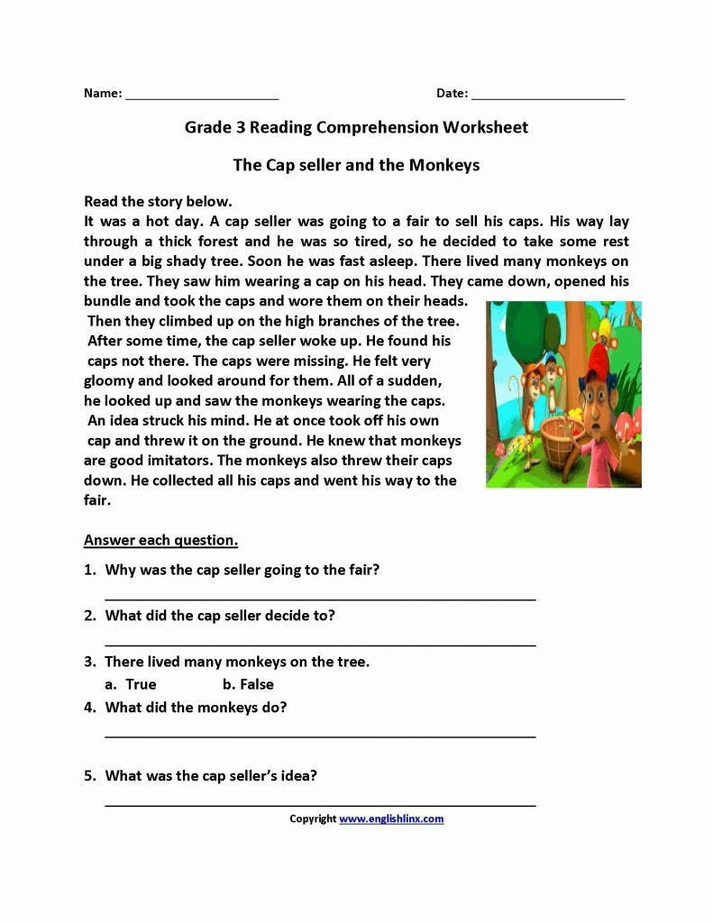 Reading Comprehension 7th Grade Worksheet Worksheet 7th Grade Reading and Writing Worksheets