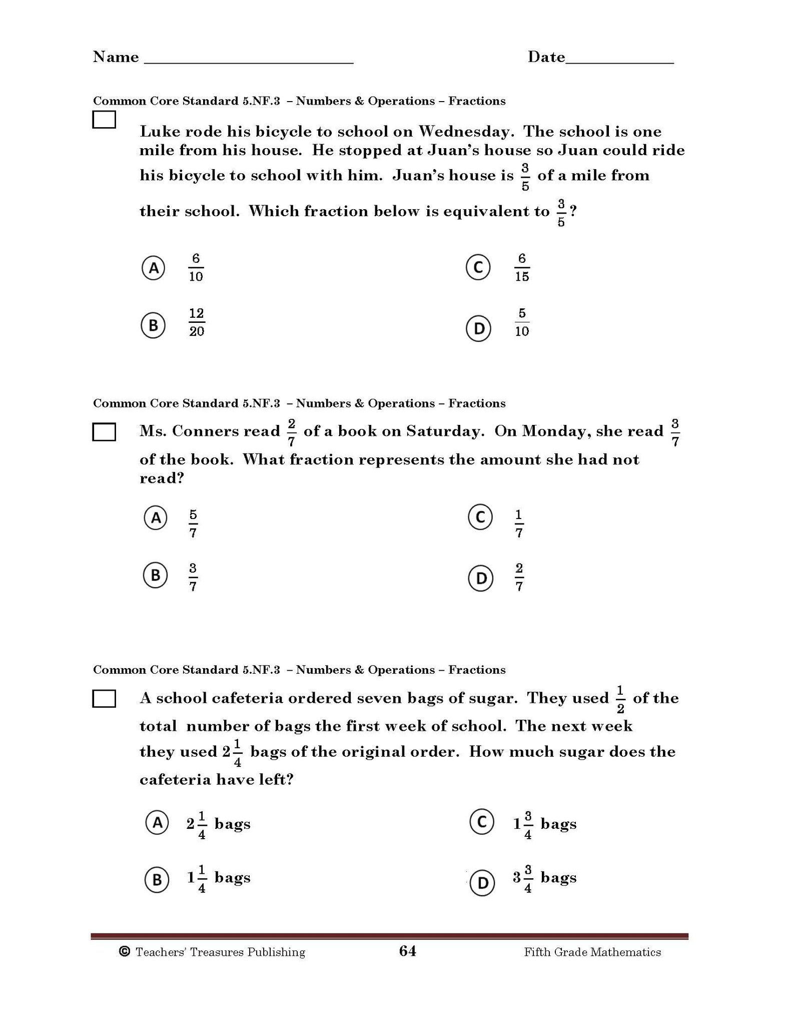 Reading Worksheets 5th Grade 5th Grade Mon Core Math Worksheets and Reading Answer Any