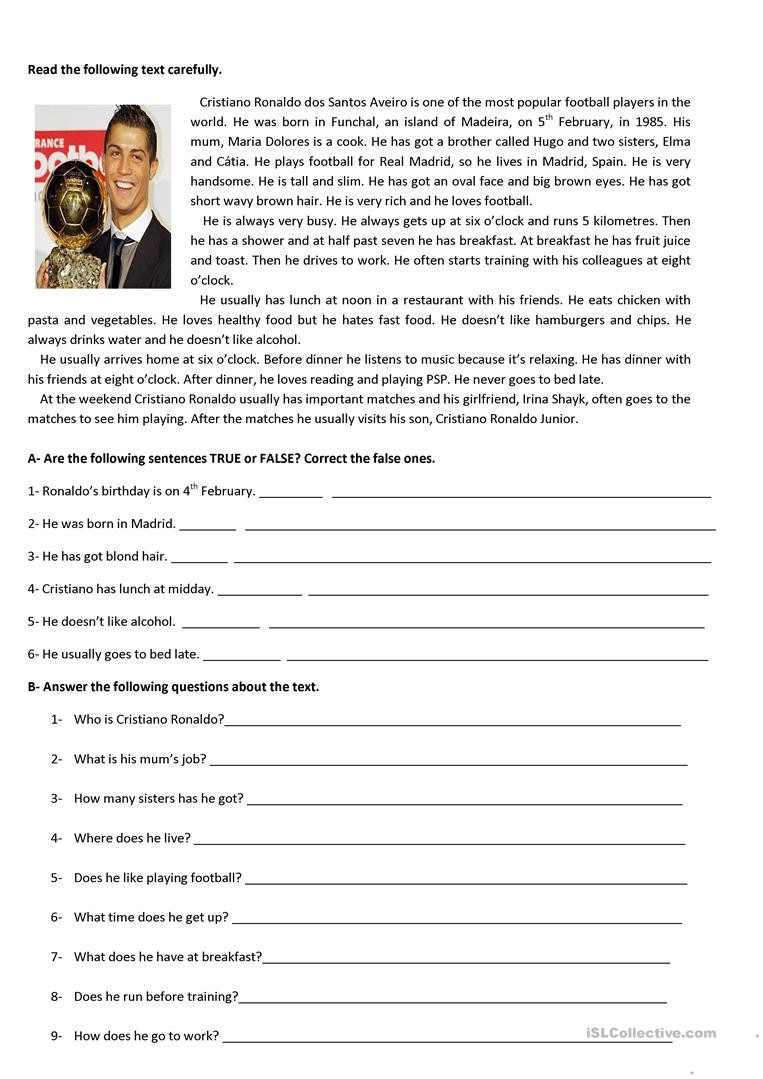 Reading Worksheets 5th Grade Test 5th Grade English Esl Worksheets for Distance