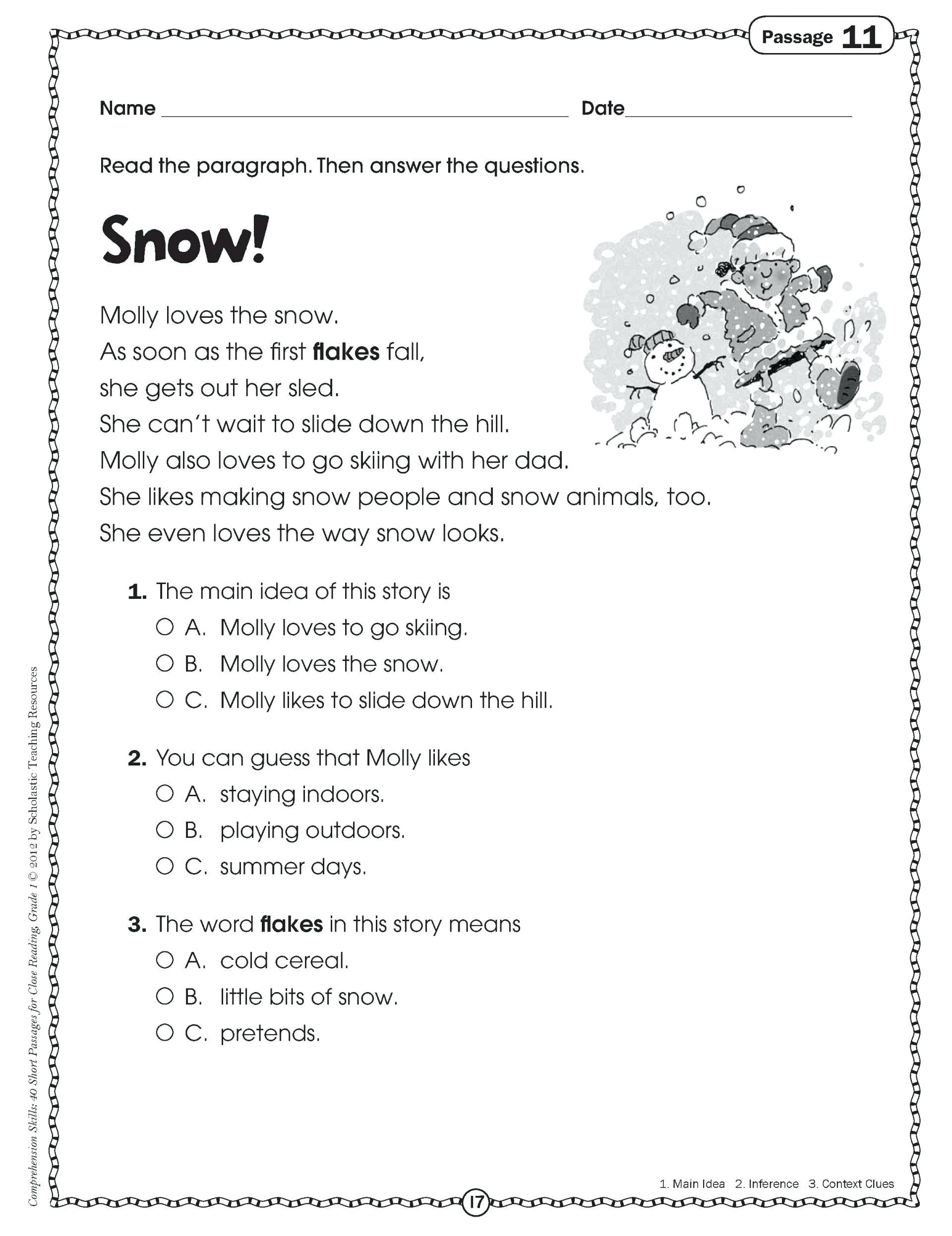 Reading Worksheets Grade 5 5 Preschool Worksheets Free Printables Reading Prehension