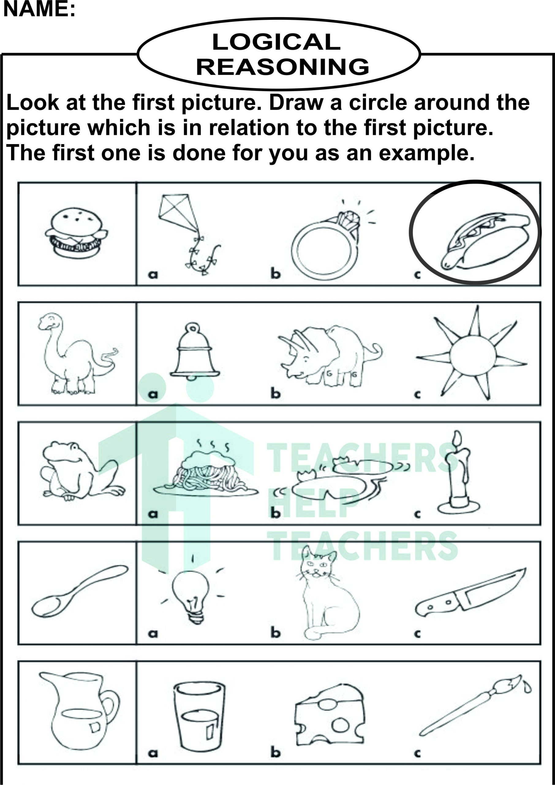 Reasoning Worksheets for Grade 1 Critical Thinking Worksheets for Grade 2