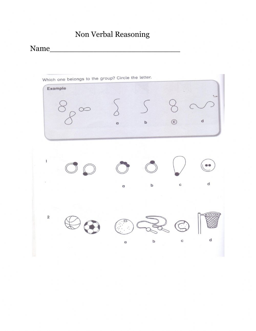 Reasoning Worksheets for Grade 1 Non Verbal Reasoning Worksheet Interactive Worksheet