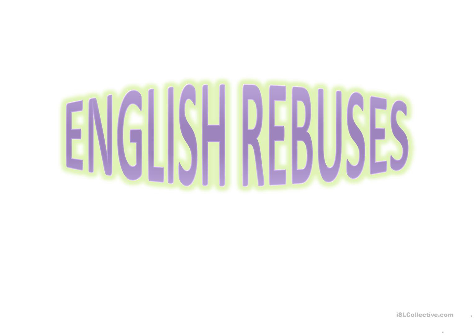 Rebus Brain Teasers Printable English Rebuses Brain Teasers English Esl Powerpoints