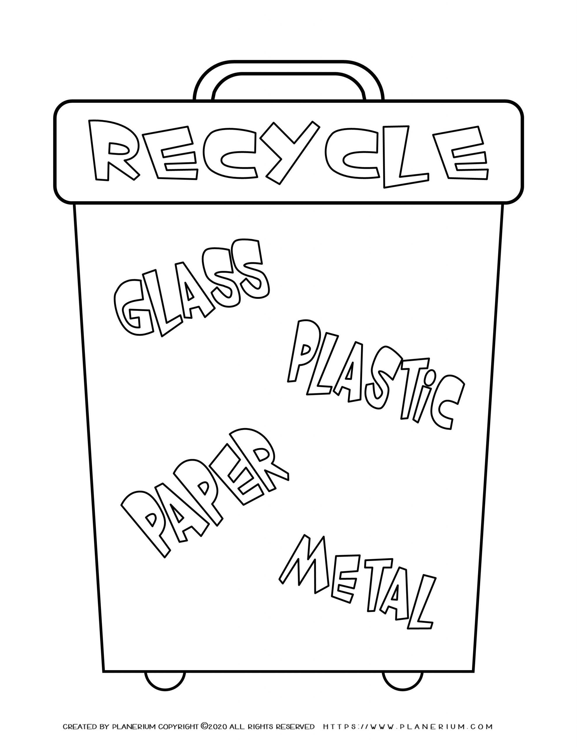 Recycle Worksheets for Preschoolers Home Recycle Worksheet