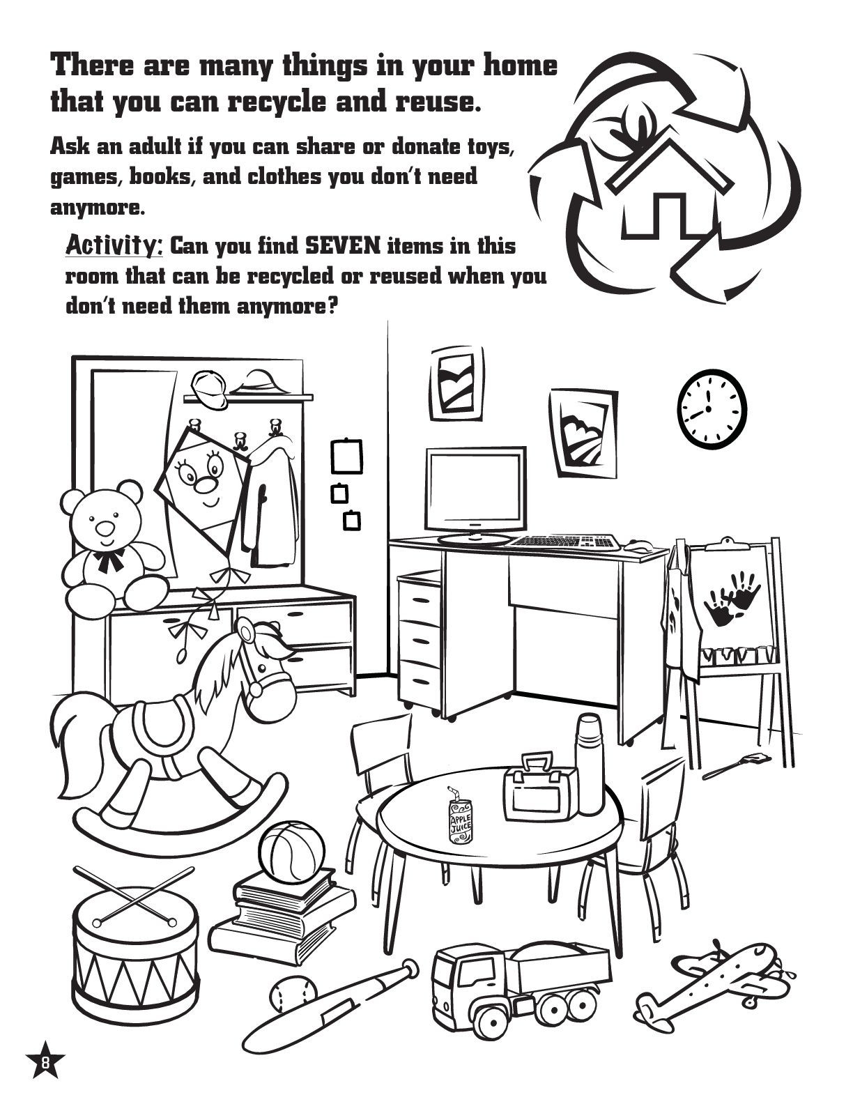 Recycling Worksheets for Middle School Activity Page to Teach Kids About Recycling Recycling