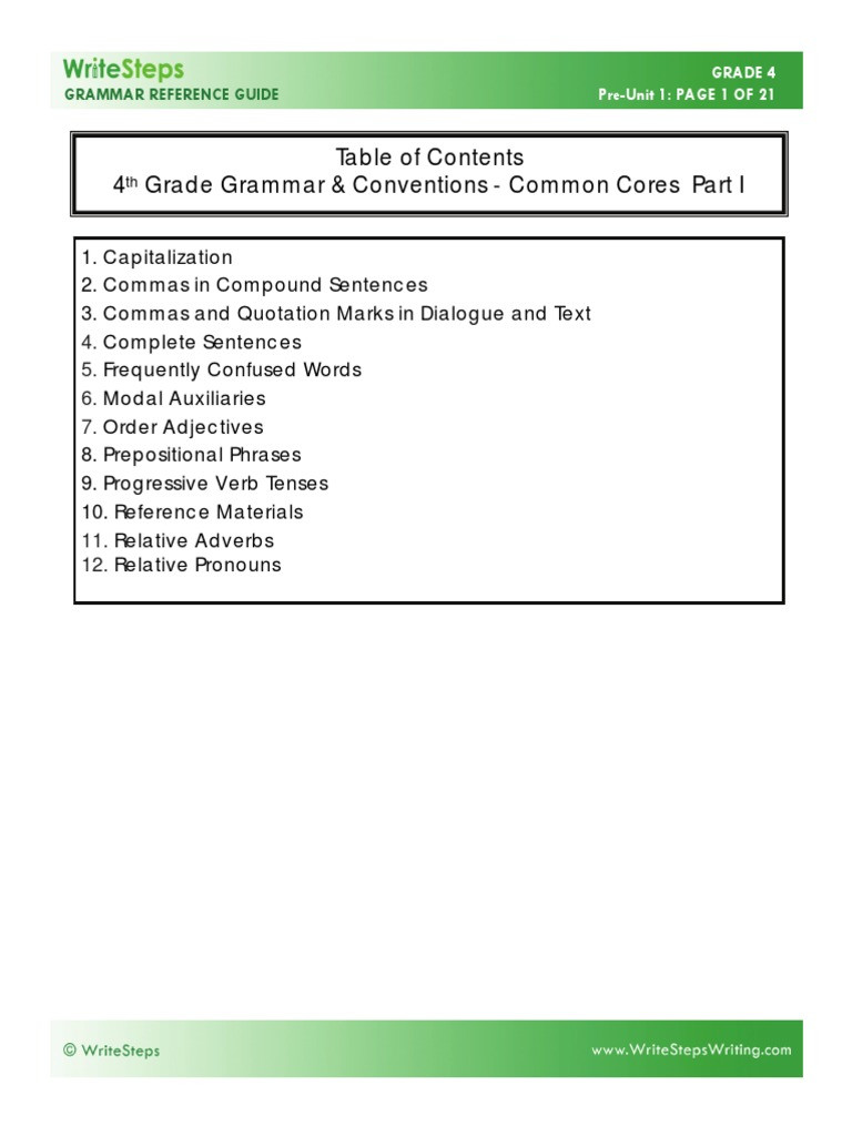 Relative Adverbs Worksheet 4th Grade 4th Grade Grammar Guide Pdf Adverb