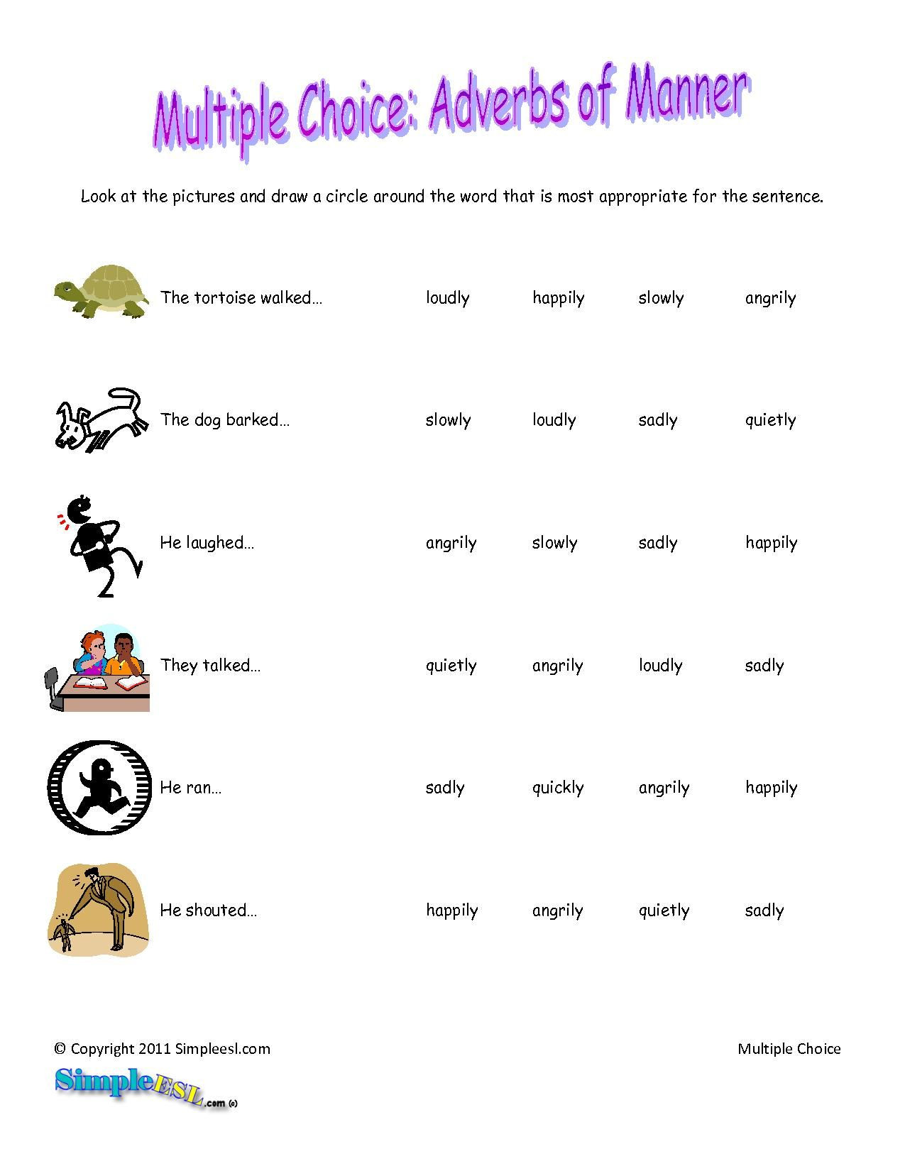 Relative Adverbs Worksheet 4th Grade Sentences with Adverbs for Kids