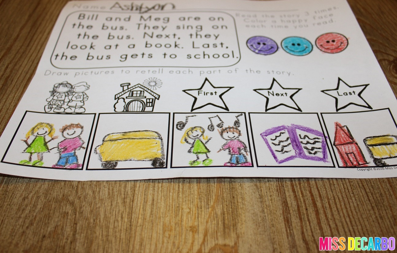 Retell Worksheet First Grade 3 Ideas to Increase Retelling Skills In Young Readers Miss
