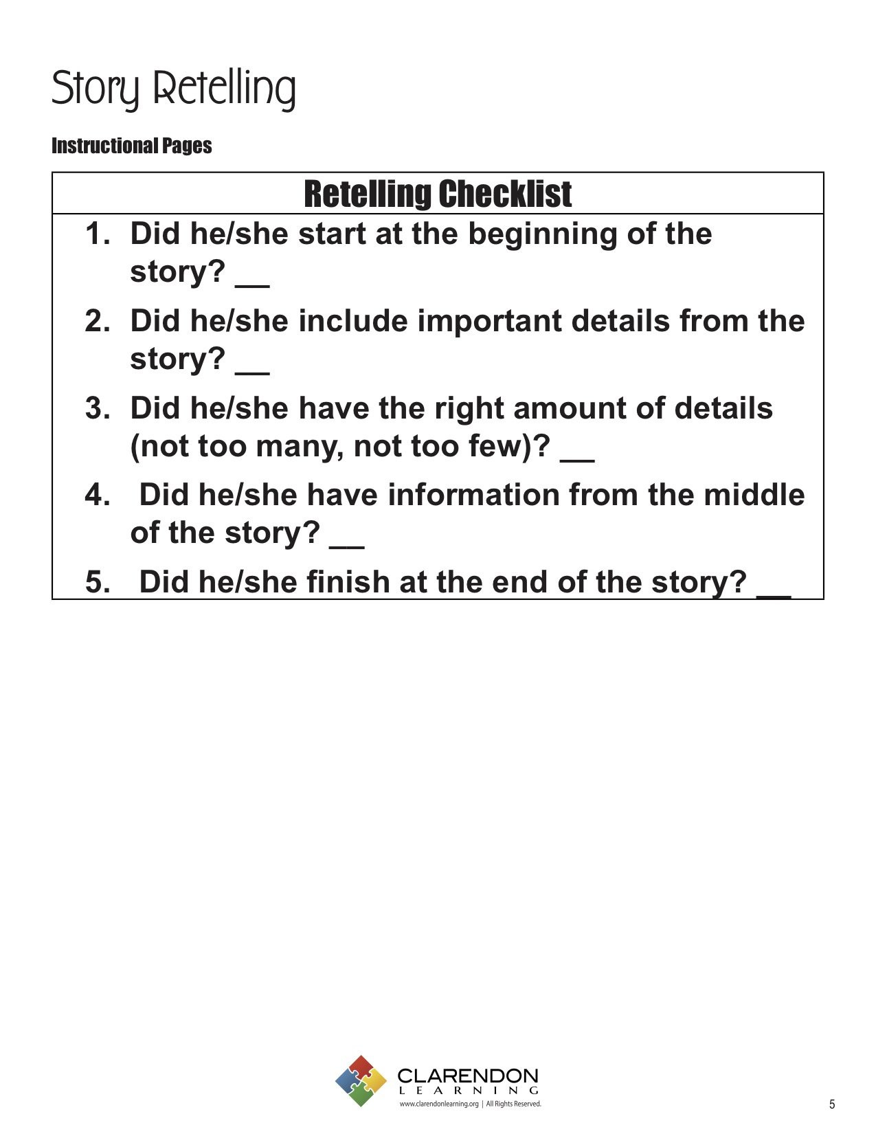 Retell Worksheet First Grade Retelling Story Worksheet Free