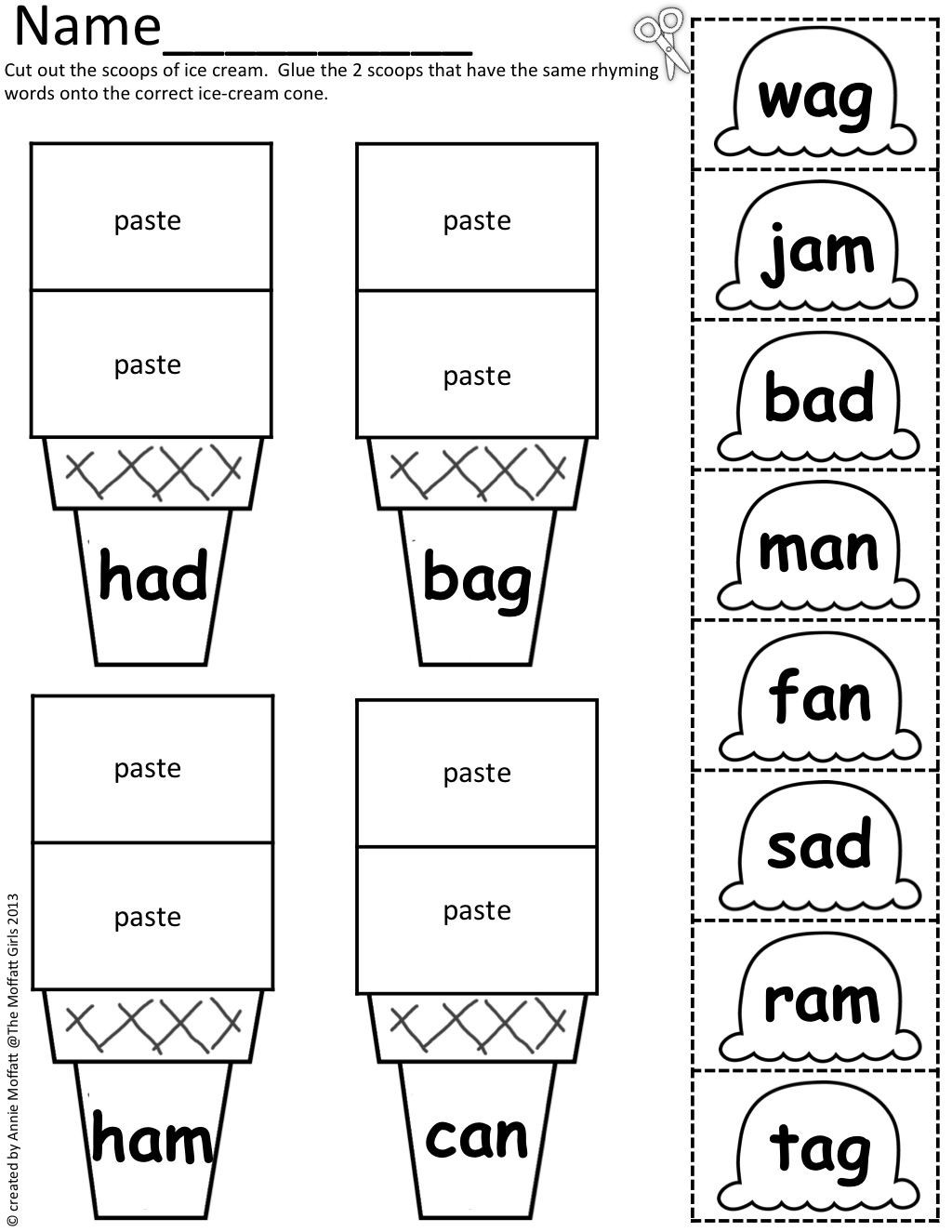 Rhyming Worksheets for Preschool Worksheet Puter Activities for Kids Learning Games 5th