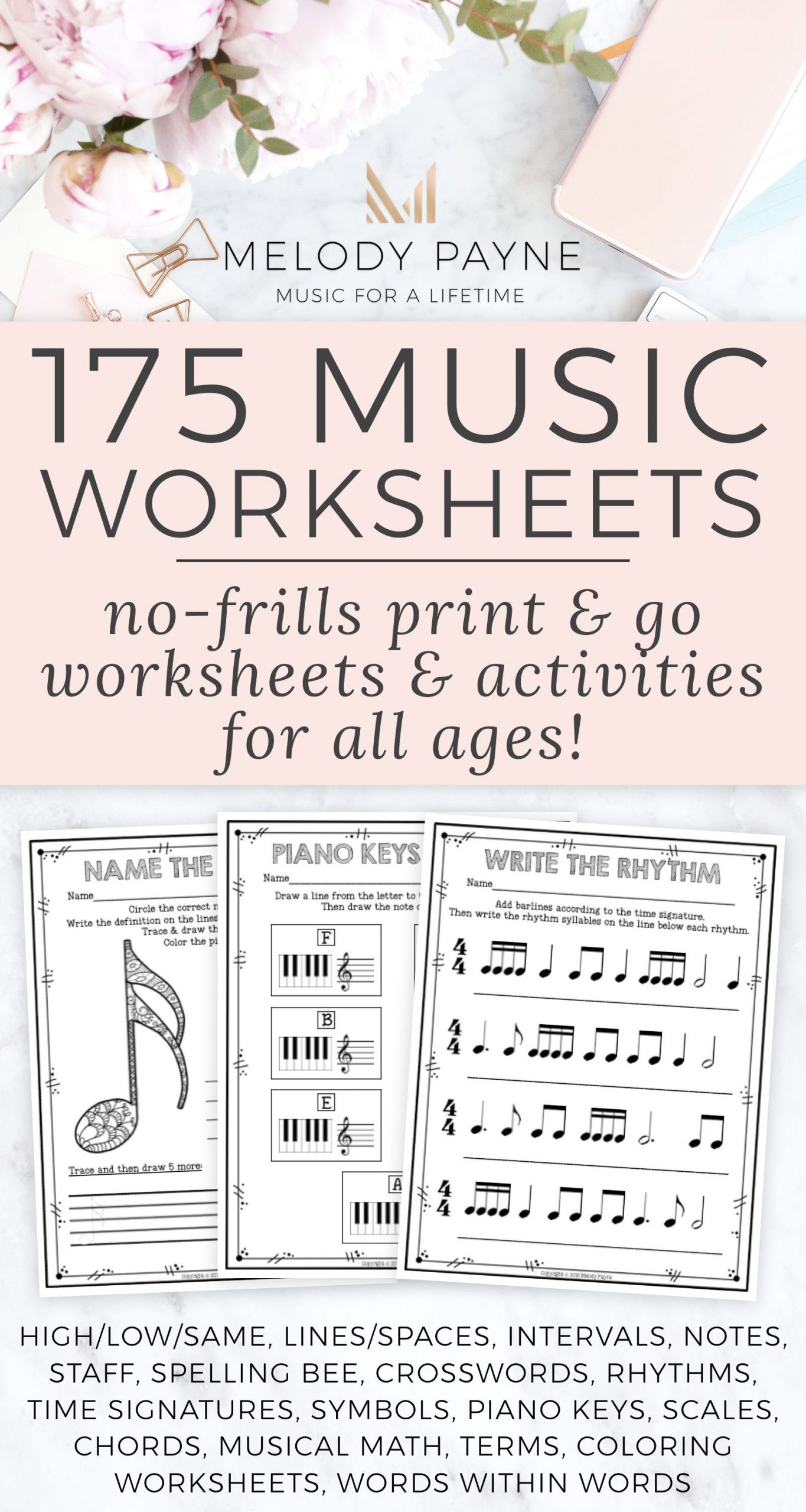 Rhythm Math Worksheet Distance Learning Music Worksheets Over 200 Print and Go