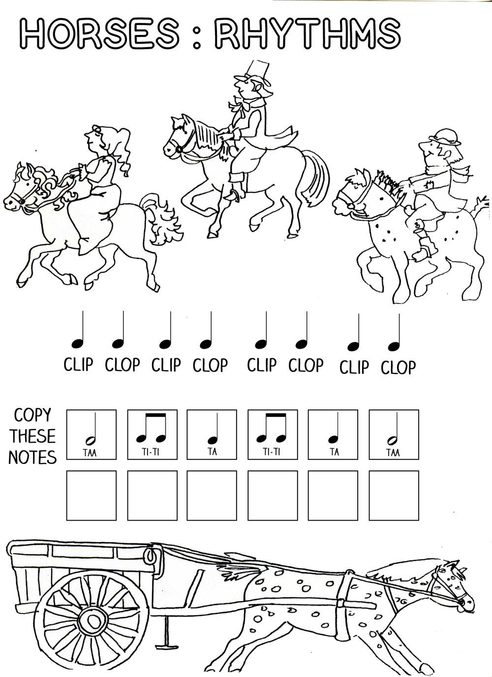 Rhythm Math Worksheet Let S Play Music Horses Rhythm Work Sheet Free