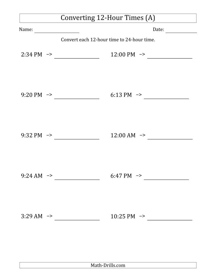 Russian Math Worksheets Converting From Hour to Times Clock Worksheets Convert Time