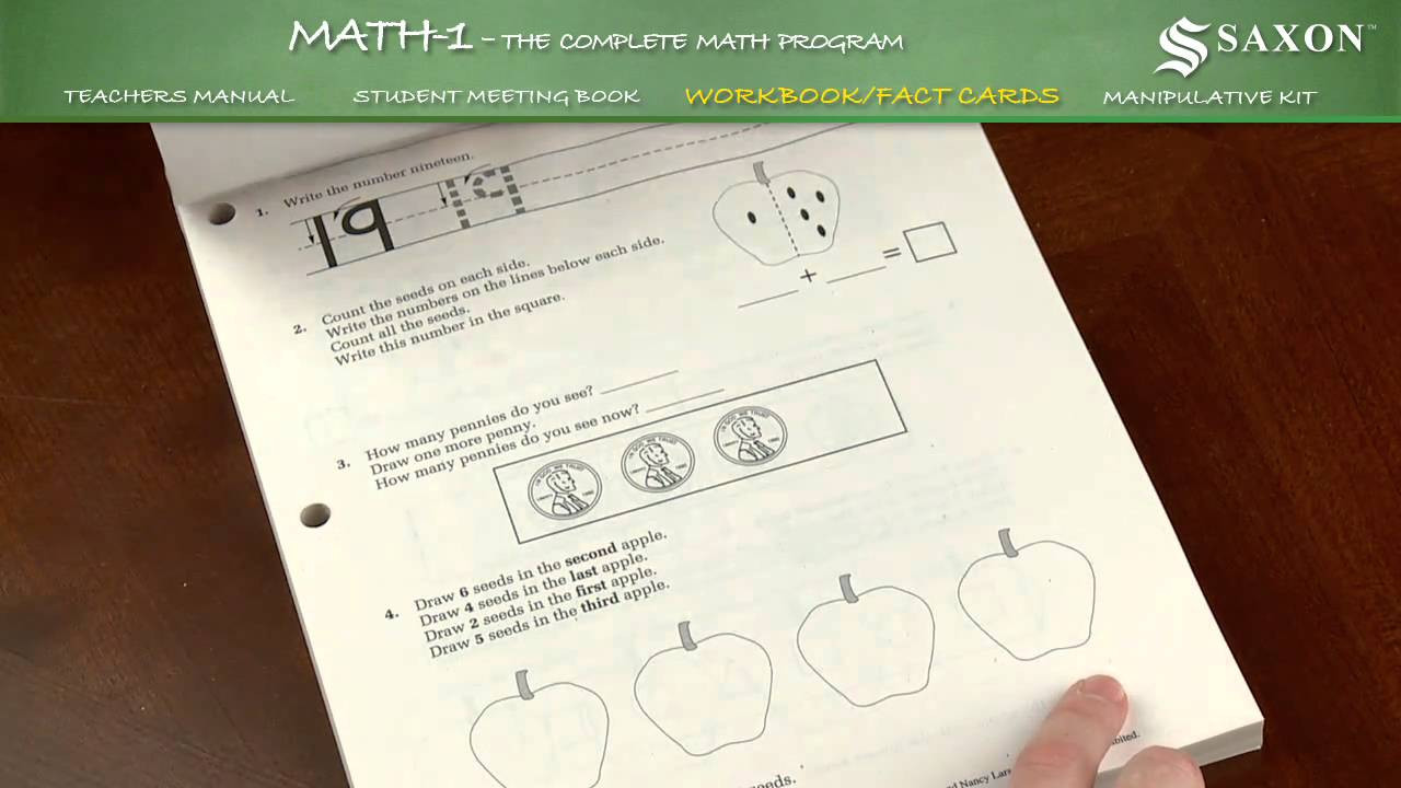 Saxon Math First Grade Worksheets Saxon Math 1 Student Workbook