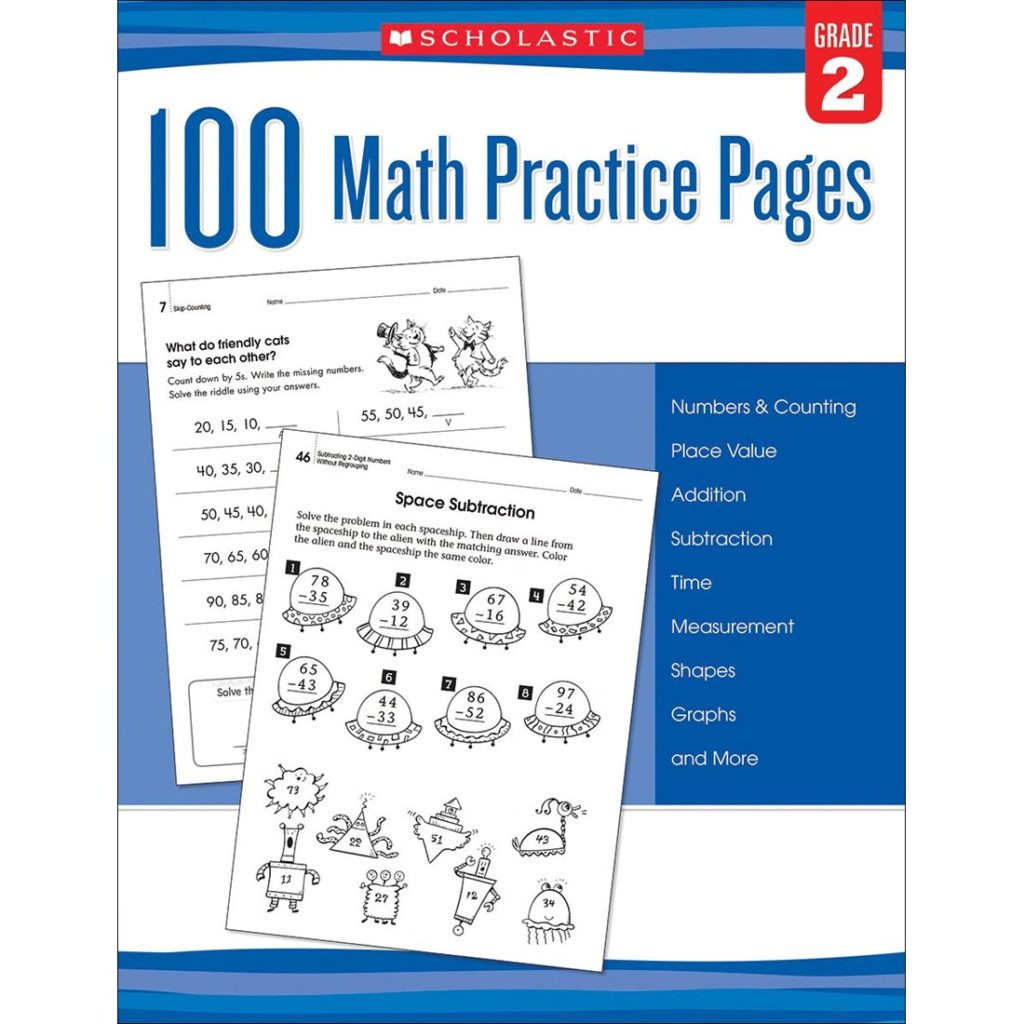 Scholastic Math Worksheets Worksheet Math Practice Pages by Scholastic Grade Sc Image