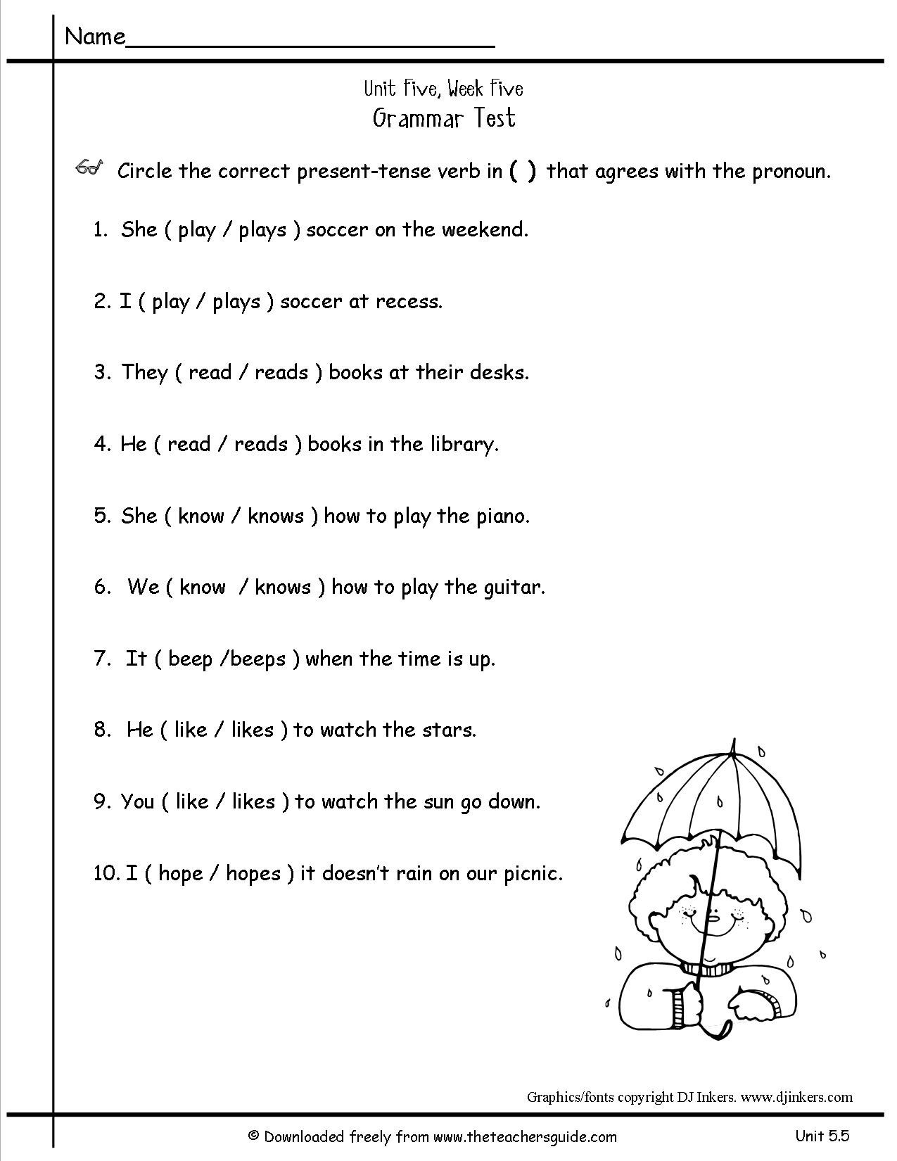 Second Grade History Worksheets 5 Free Grammar Worksheets Second Grade 2 Verbs Past Tense