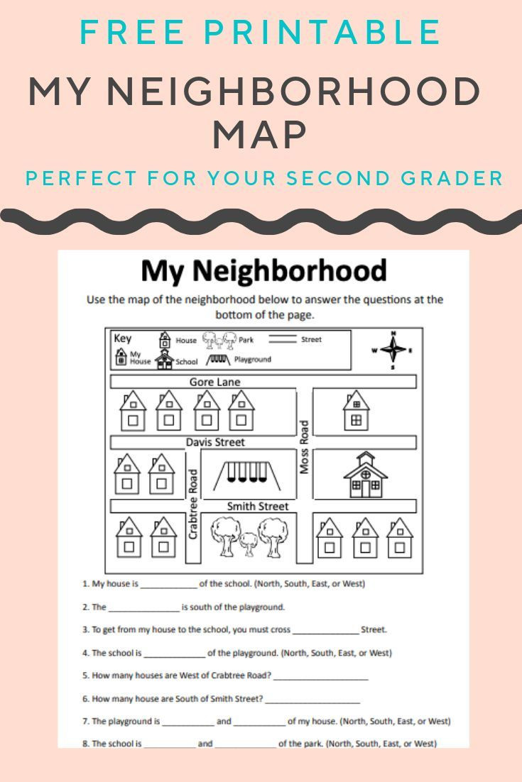Second Grade Map Skills Worksheets Help Your Child Build Map Skills and Understand north south