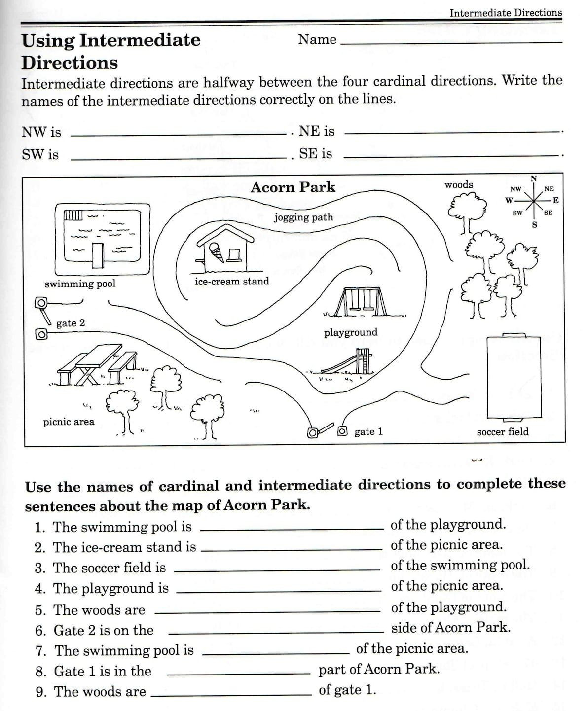 Second Grade Map Skills Worksheets Second Grade Map Skills Worksheets Map Skills Worksheets 3rd