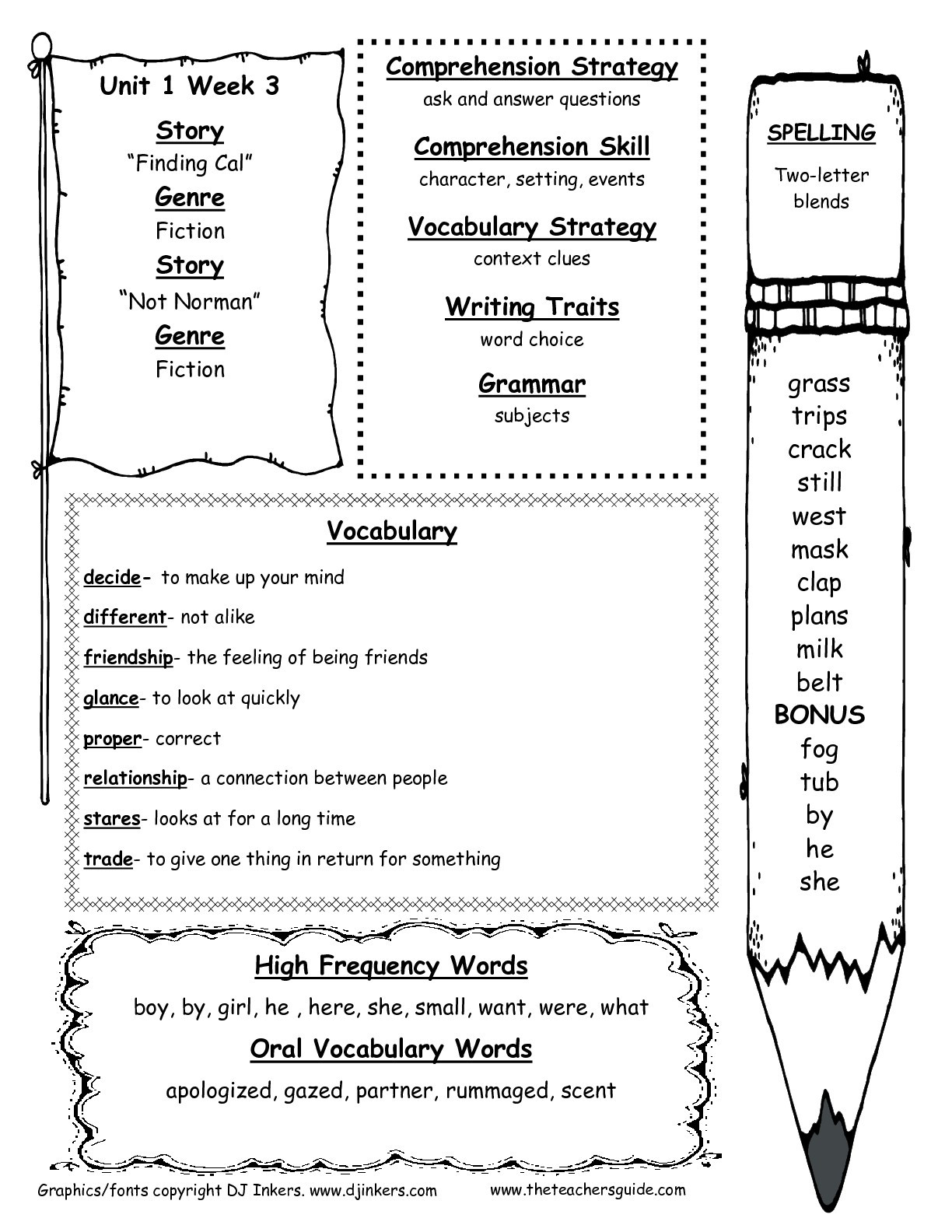 Second Grade Spelling Worksheets Mcgraw Hill Wonders Second Grade Resources and Printouts