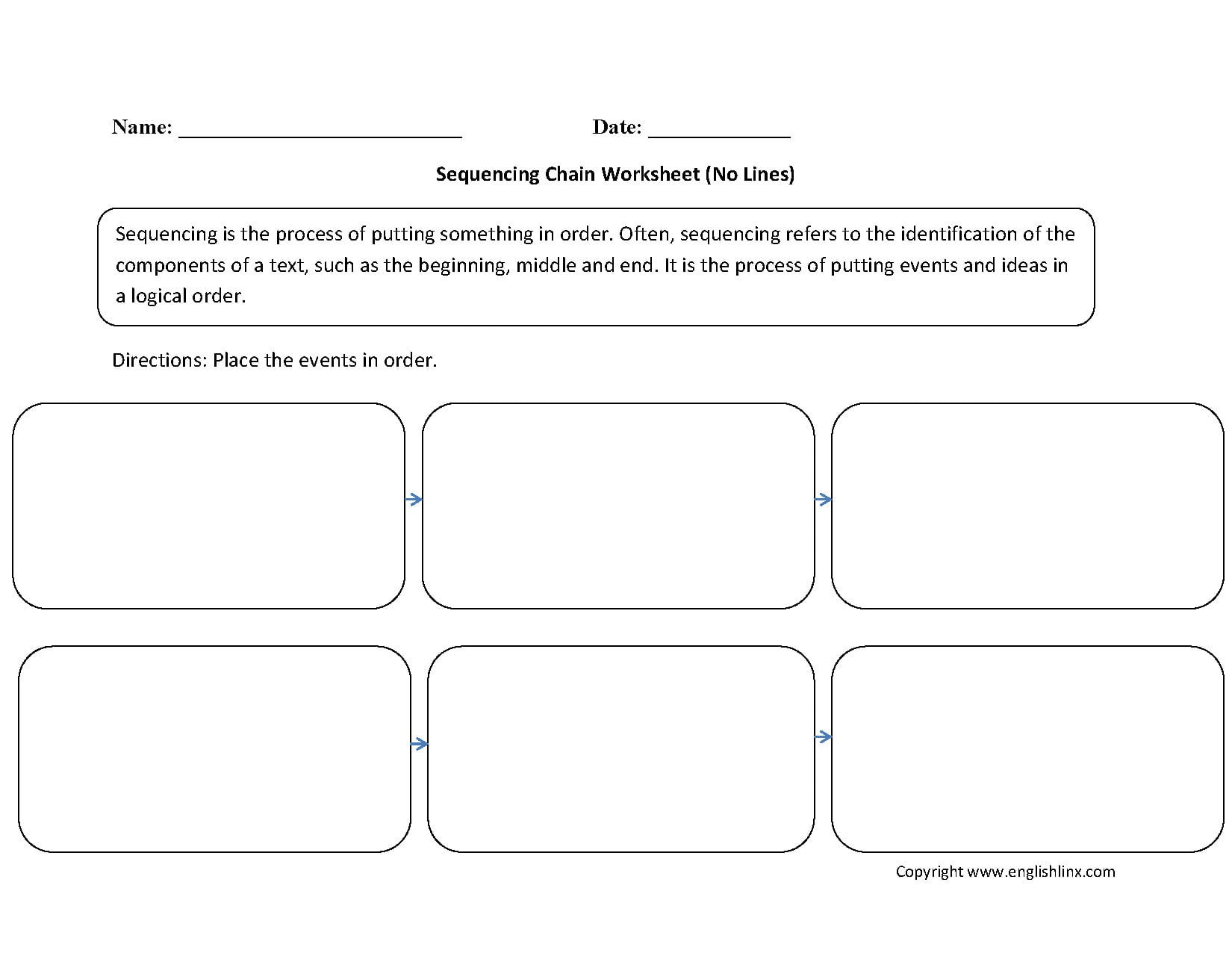 Sequence Worksheets for 3rd Grade Sequencing Writing Worksheets