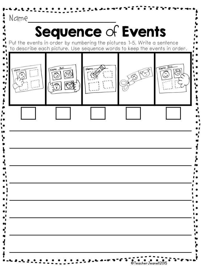 Sequencing events Worksheets Grade 6 Sequencing Sequence Of events Writing