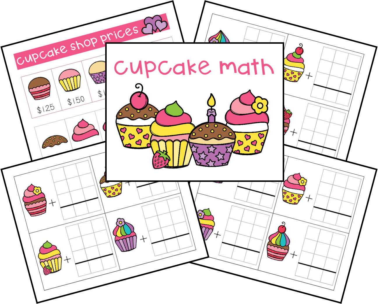 Shopping Math Worksheet Free Cupcake Shop Money Math Problems