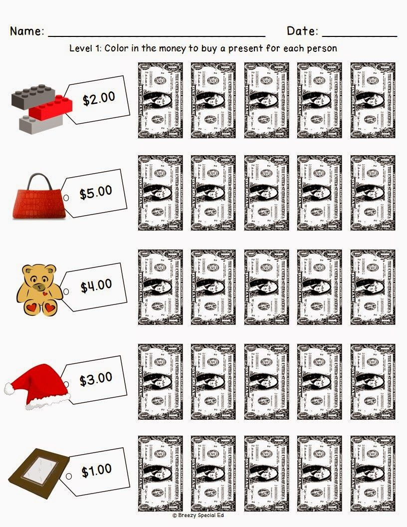 Shopping Math Worksheets Christmas Holiday Shopping Worksheets for Free