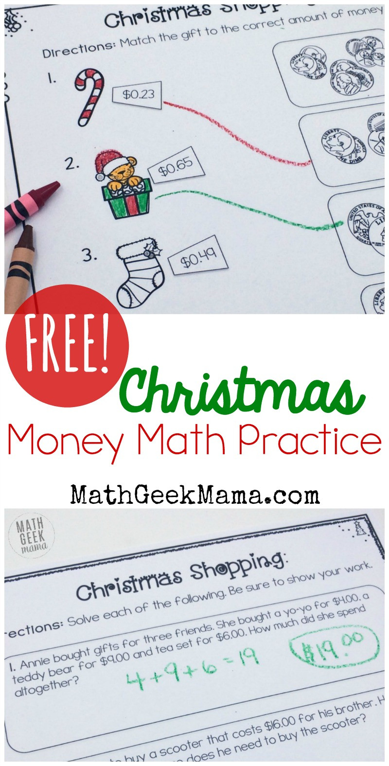 Shopping Math Worksheets Christmas Shopping Money Math Worksheets Free