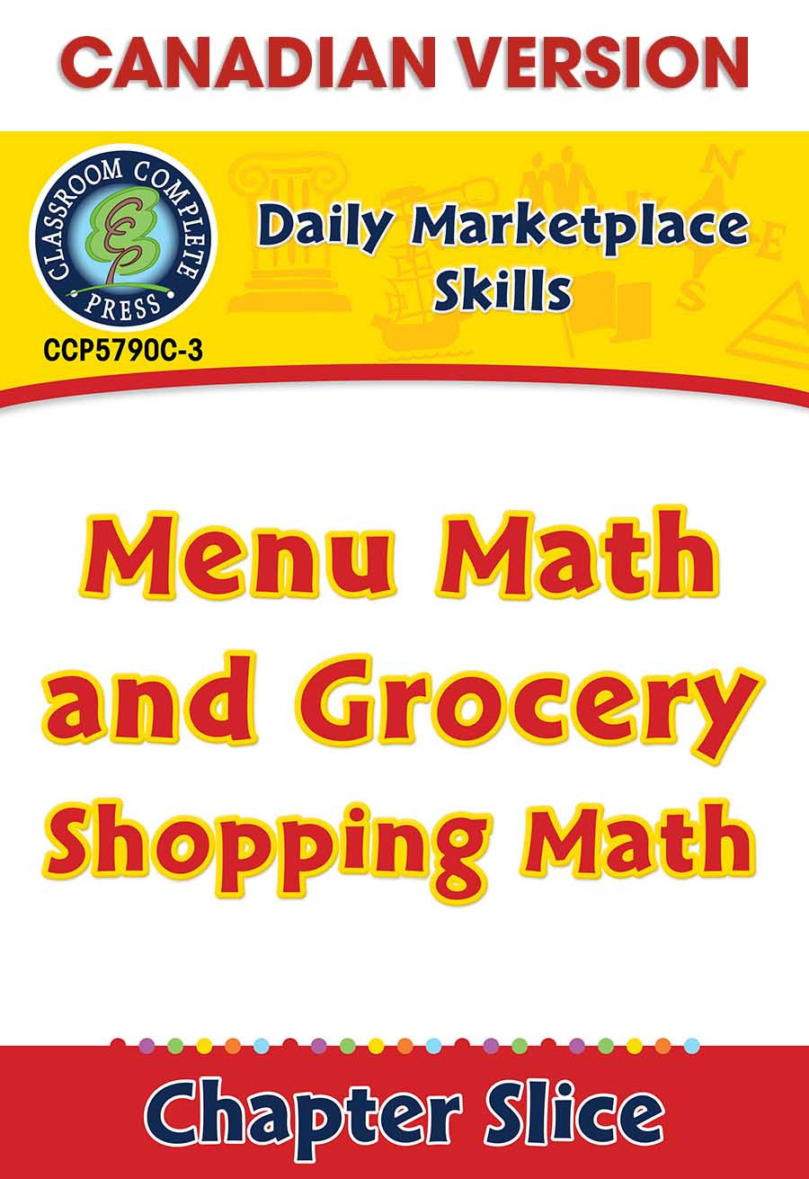 Shopping Math Worksheets Daily Marketplace Skills Menu Math and Grocery Shopping
