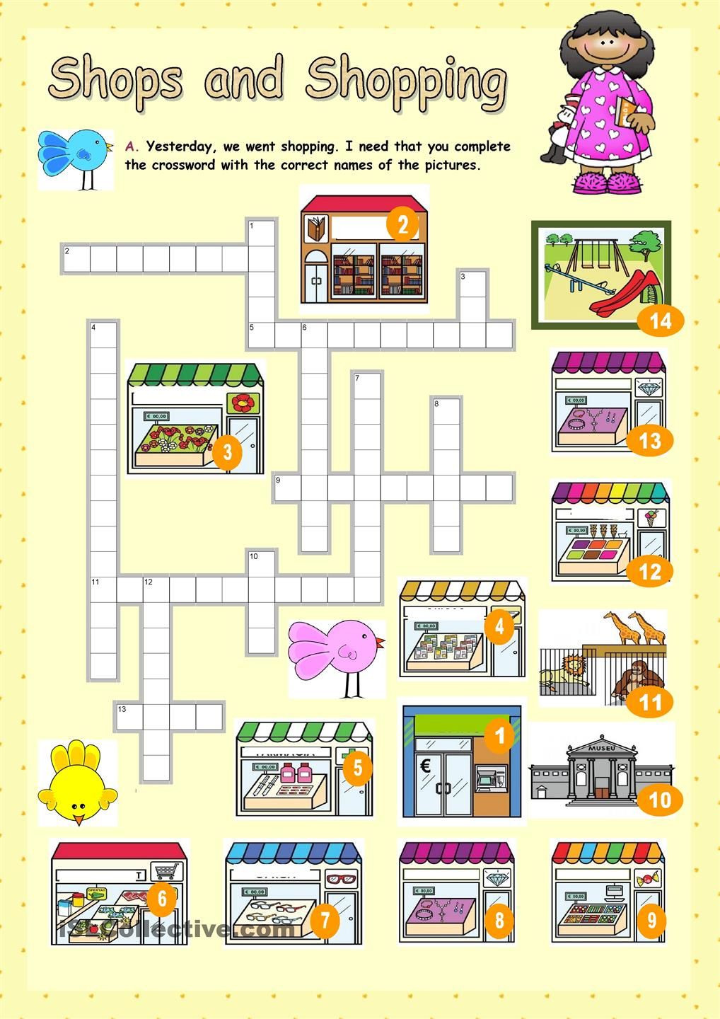 Shopping Math Worksheets Shops and Shopping