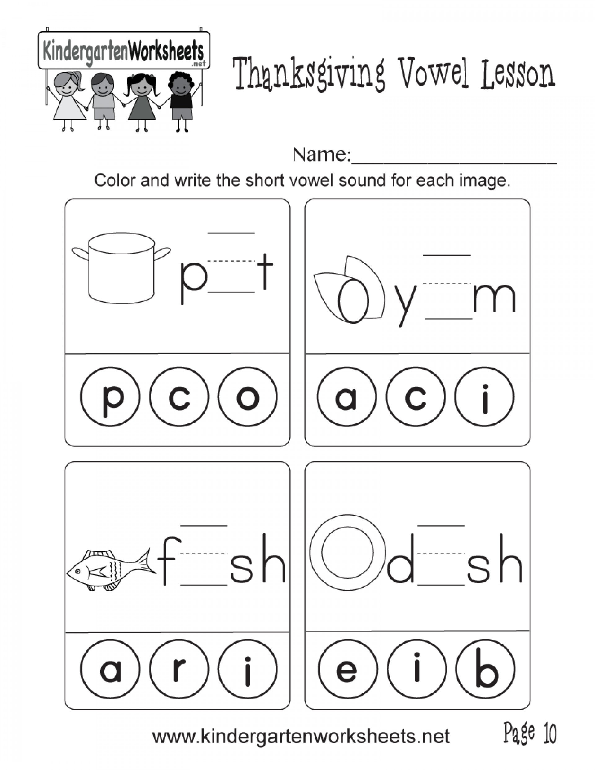 Short Vowel Worksheets 2nd Grade and Short Vowel sounds Worksheets Learning Printable