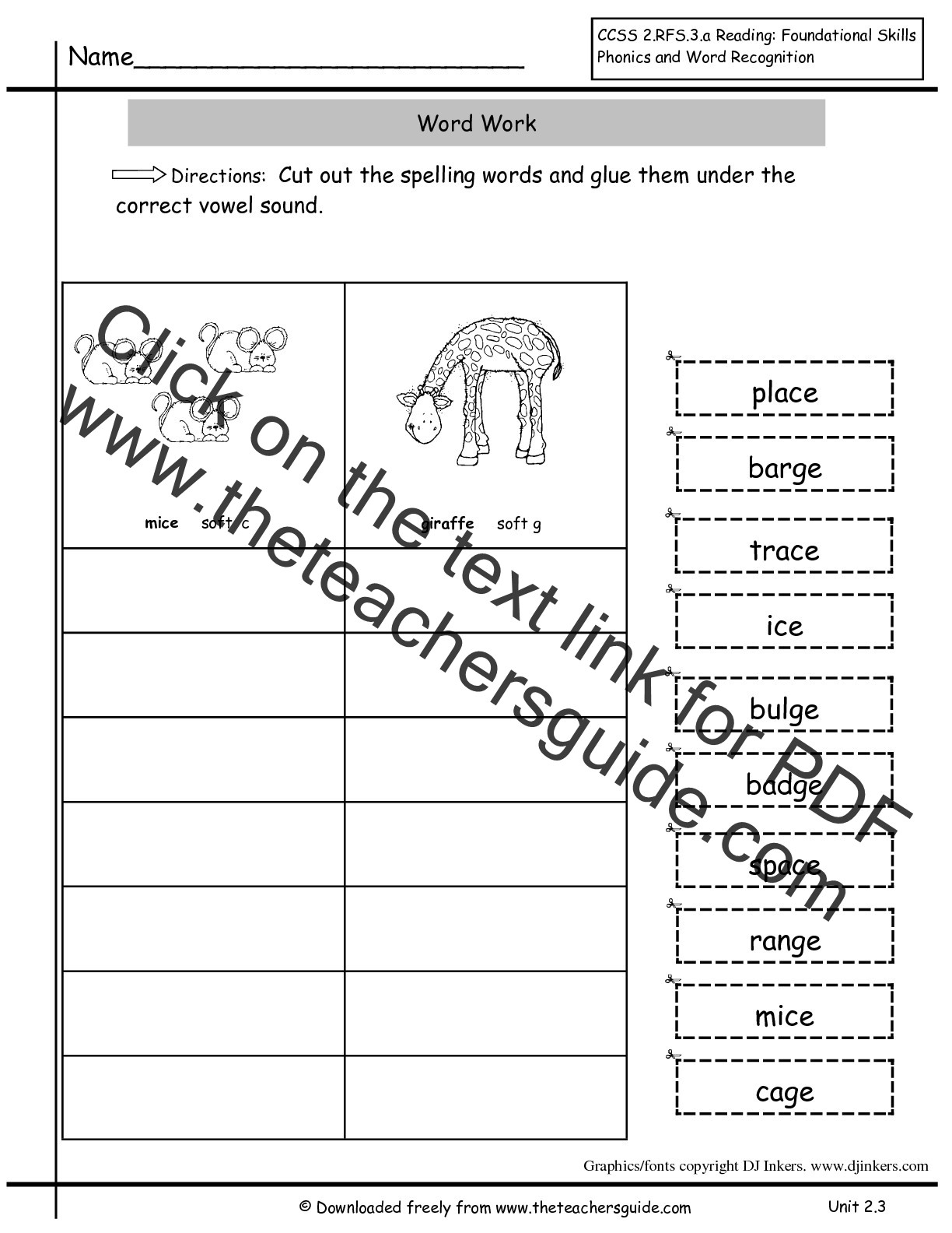 Short Vowel Worksheets 2nd Grade Wonders Second Grade Unit Two Week Three Printouts